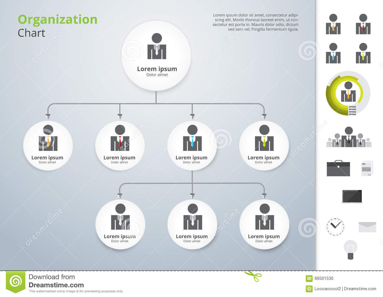 simple org chart template