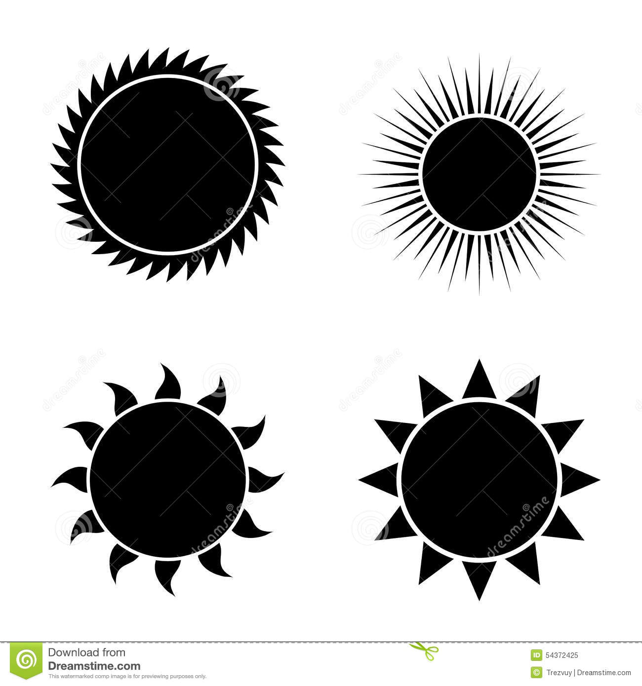 Gallery For > Sun Vector Free Black And White