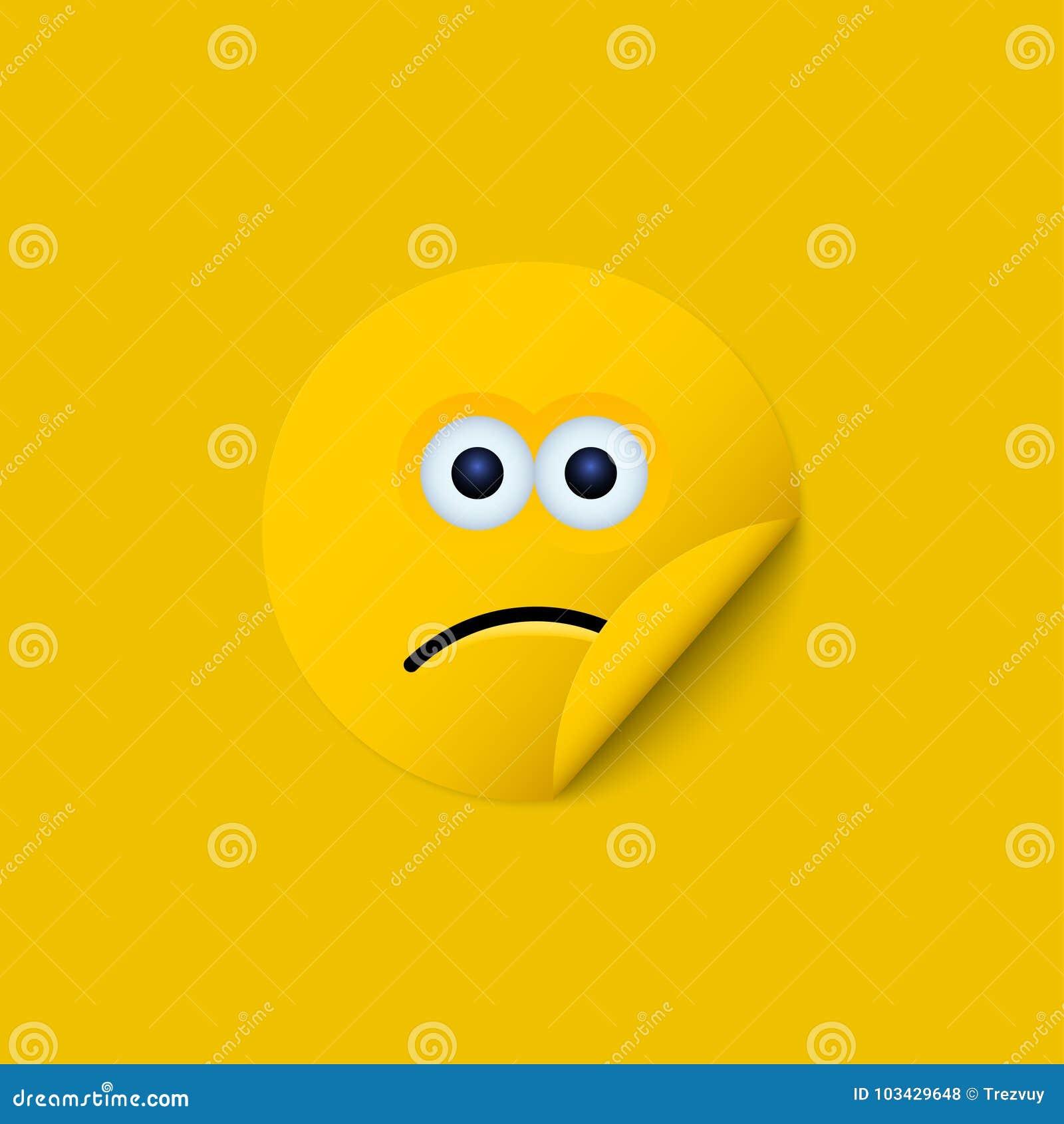 Vector modern yellow face sticker creative background.