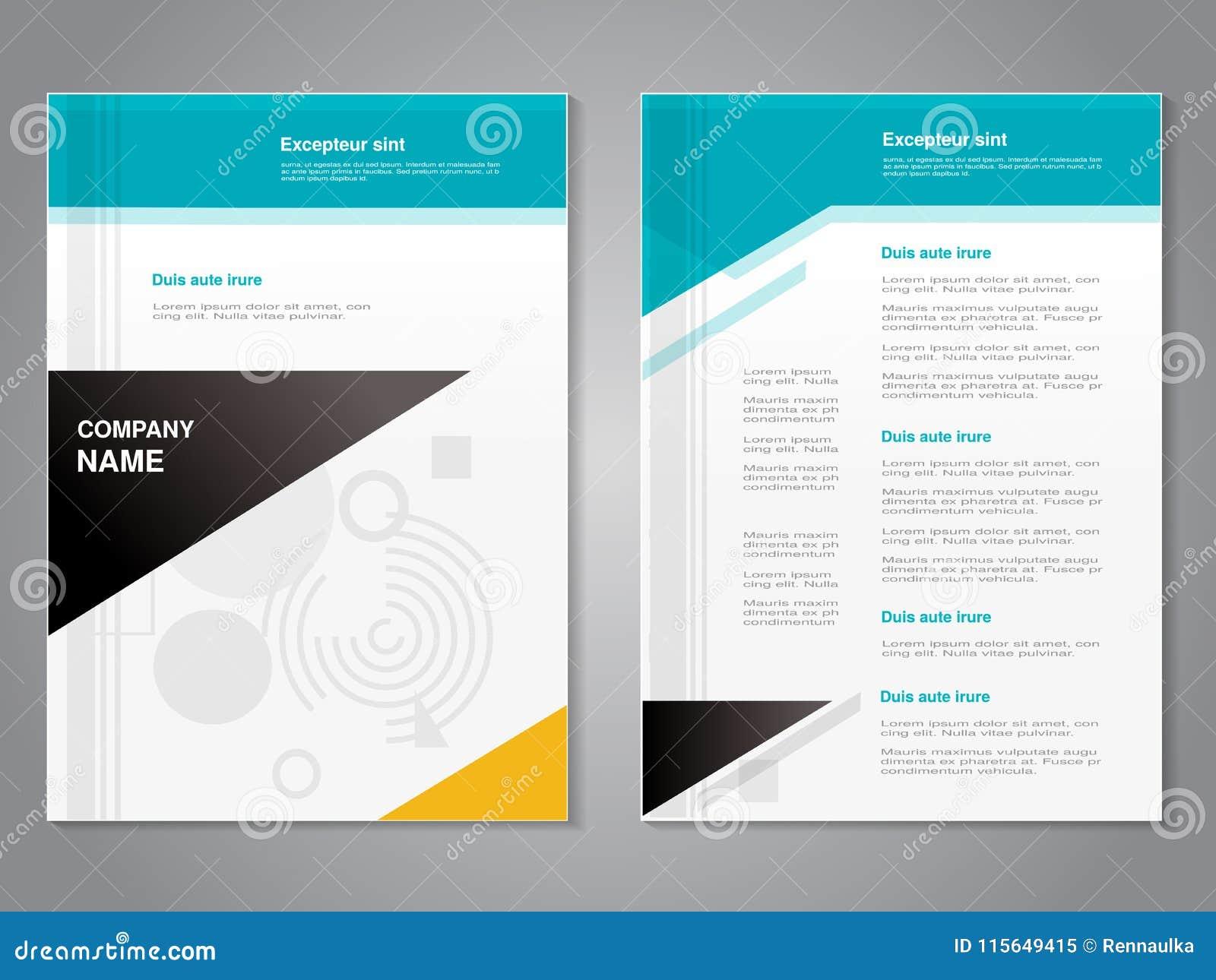 Vector moderne brochure met abstract geometrisch ontwerp, abstracte vlieger, abstracte achtergrond affiche Tijdschriftdekking
