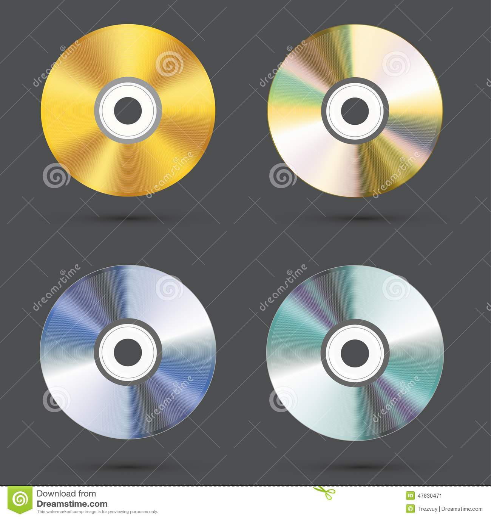 Vector moderne CD-geplaatste pictogrammen