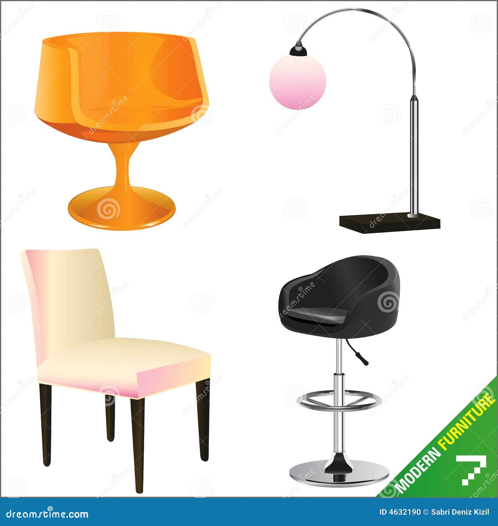 Vector moderno 7 de los muebles