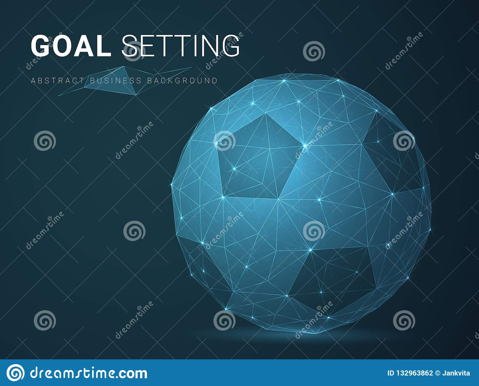 Vector moderno abstracto del fondo del negocio que representa el ajuste de la meta con las estrellas y las líneas en forma de un