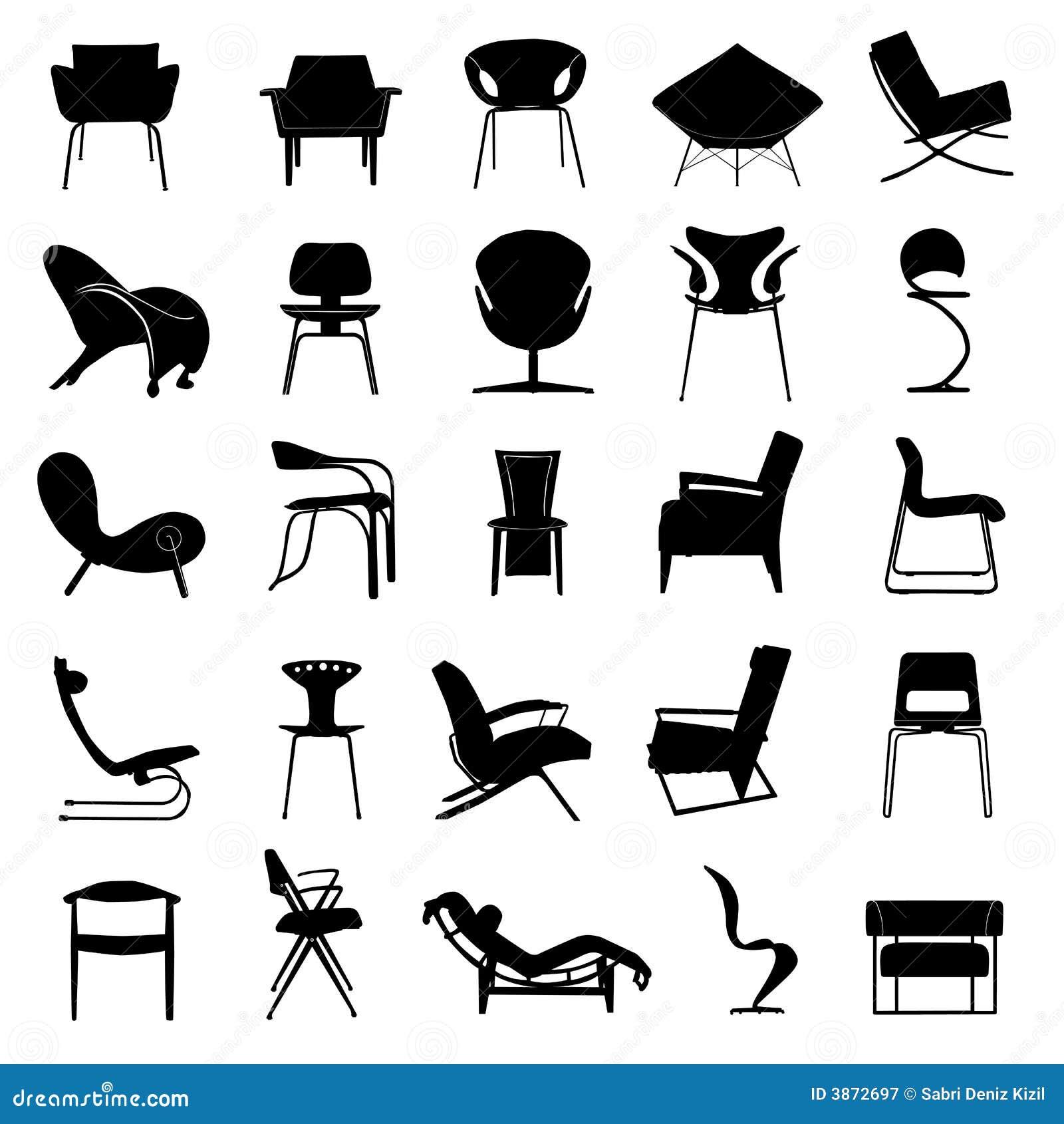 Vector moderno de la silla