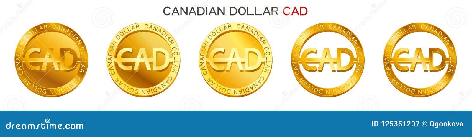 Vector Money Canadian Dollar Sign Canadian Dollar Coin Icon