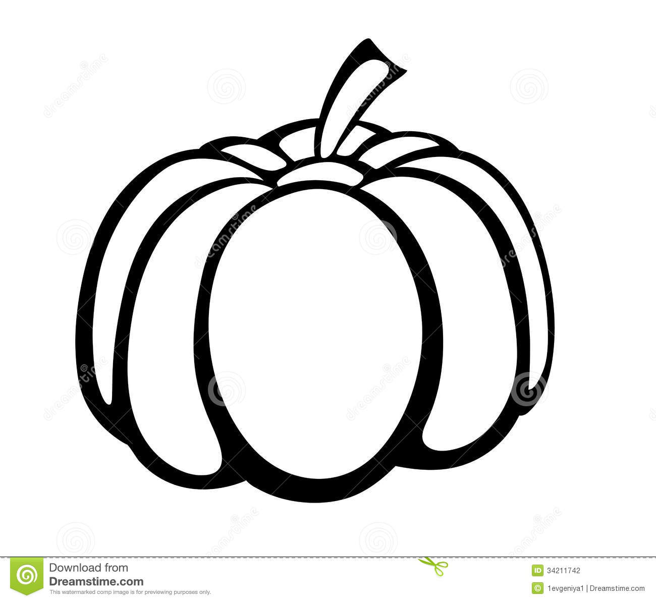 vector monochrome illustration of pumpkin logo stock vector rh dreamstime com Pumpkin Clip Art Halloween Pumpkin Vector