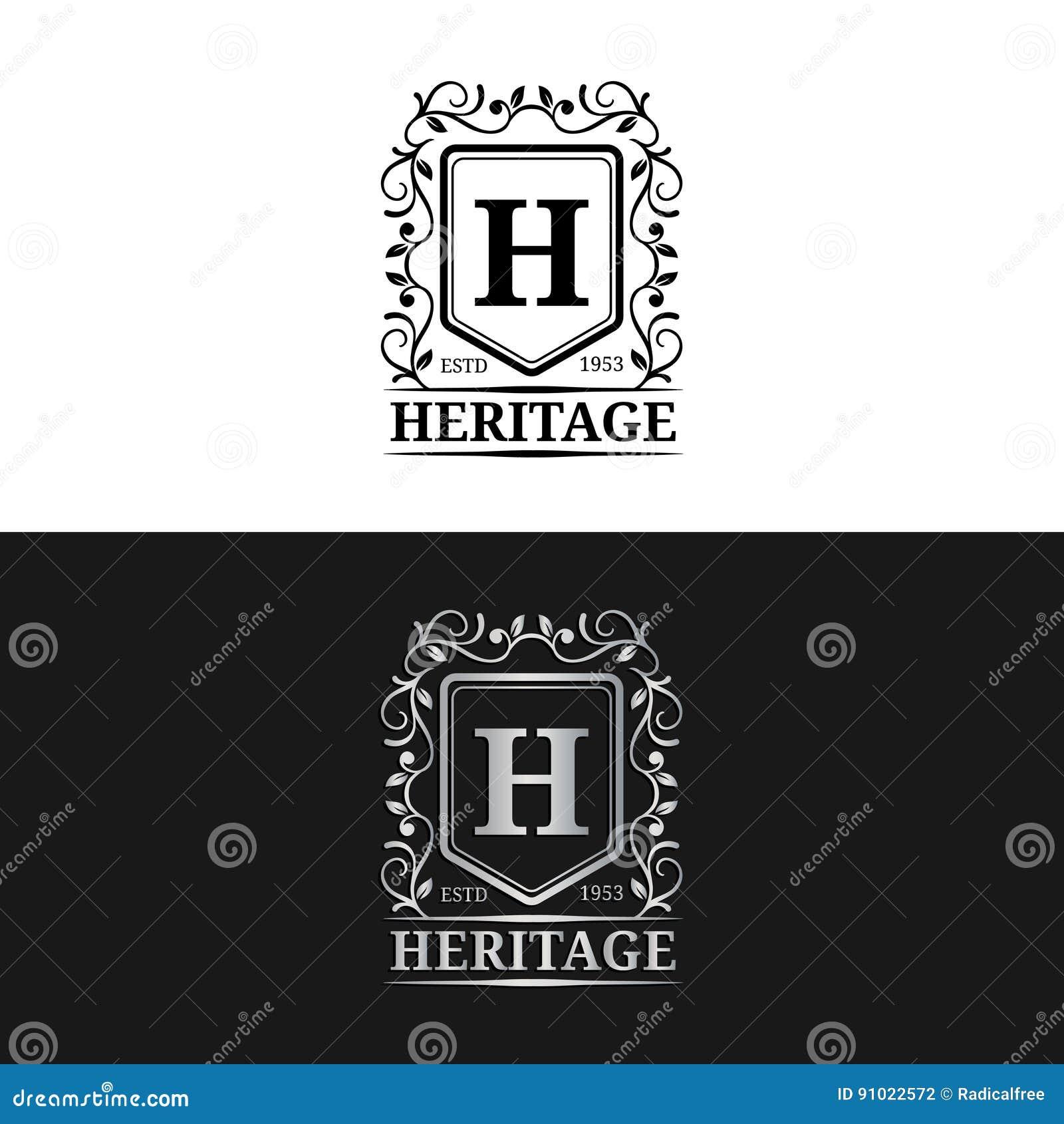F luxury logo monogram letter design vector cartoon for Monogram homes floor plans