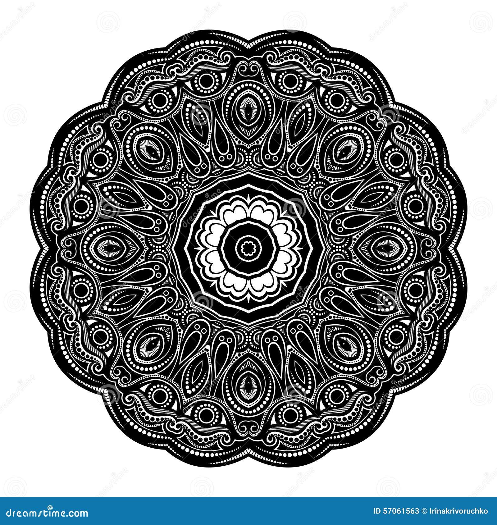 Vector Mooi Deco Zwarte Mandala