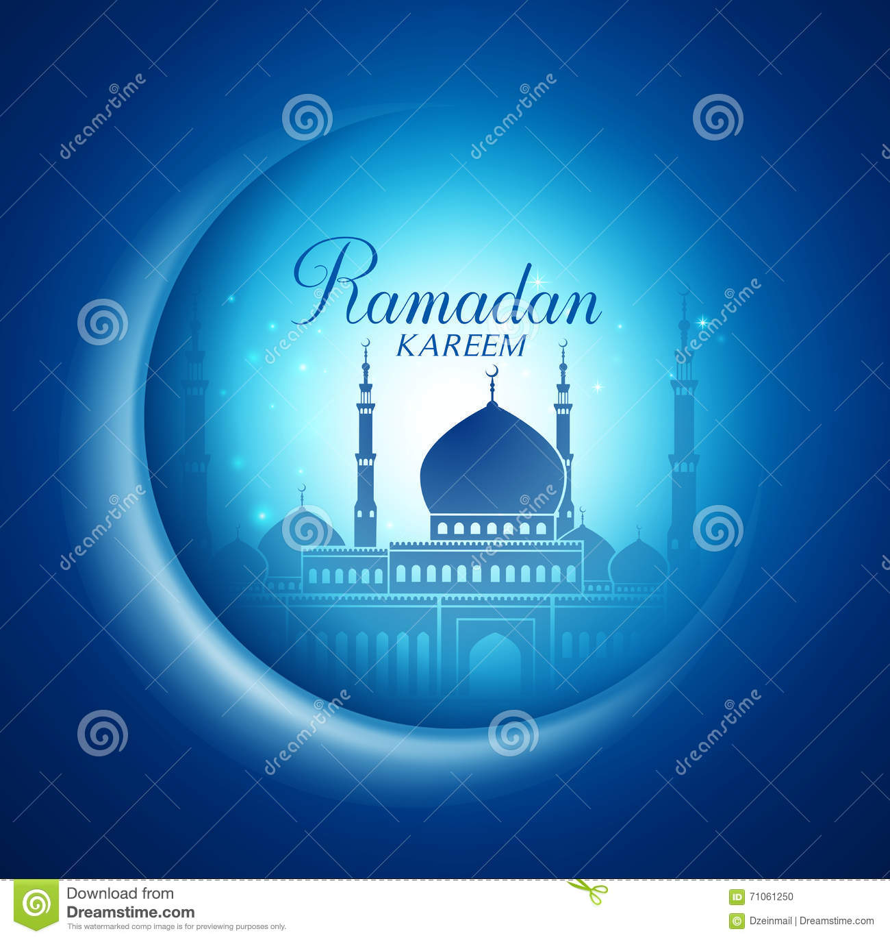 Mosque background for ramadan kareem stock photography image - Vector Moon And Mosque Lightning In Dark Background With Ramadan Kareem Stock Vector