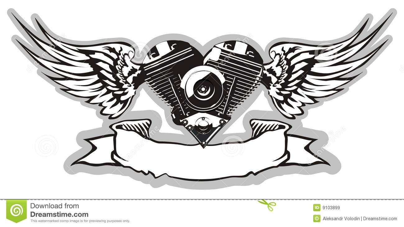 Vector Motorheart 2 Royalty Free Stock Images Image 9103899