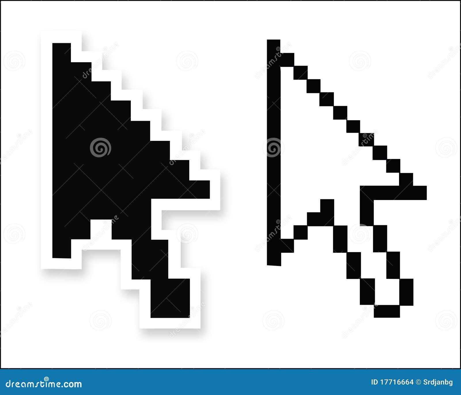 vector mouse arrow pointers stock vector illustration of hand rh dreamstime com Tribal Arrow Vector Colorful Vector Arrow