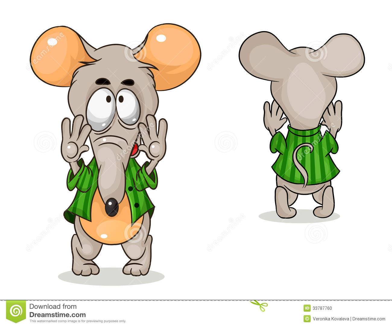 vector mouse stock vector illustration of domestic shirt 33787760