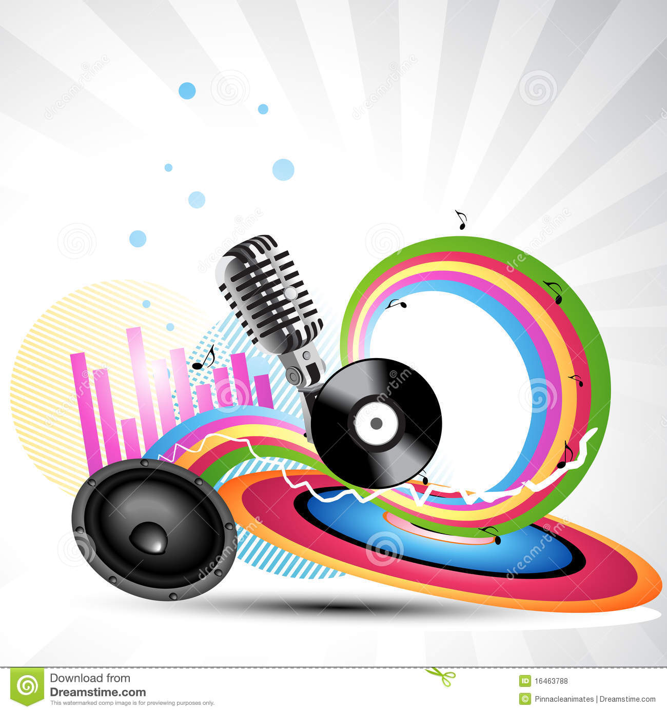 Vector Music Background Royalty Free Stock Photos - Image: 16463788