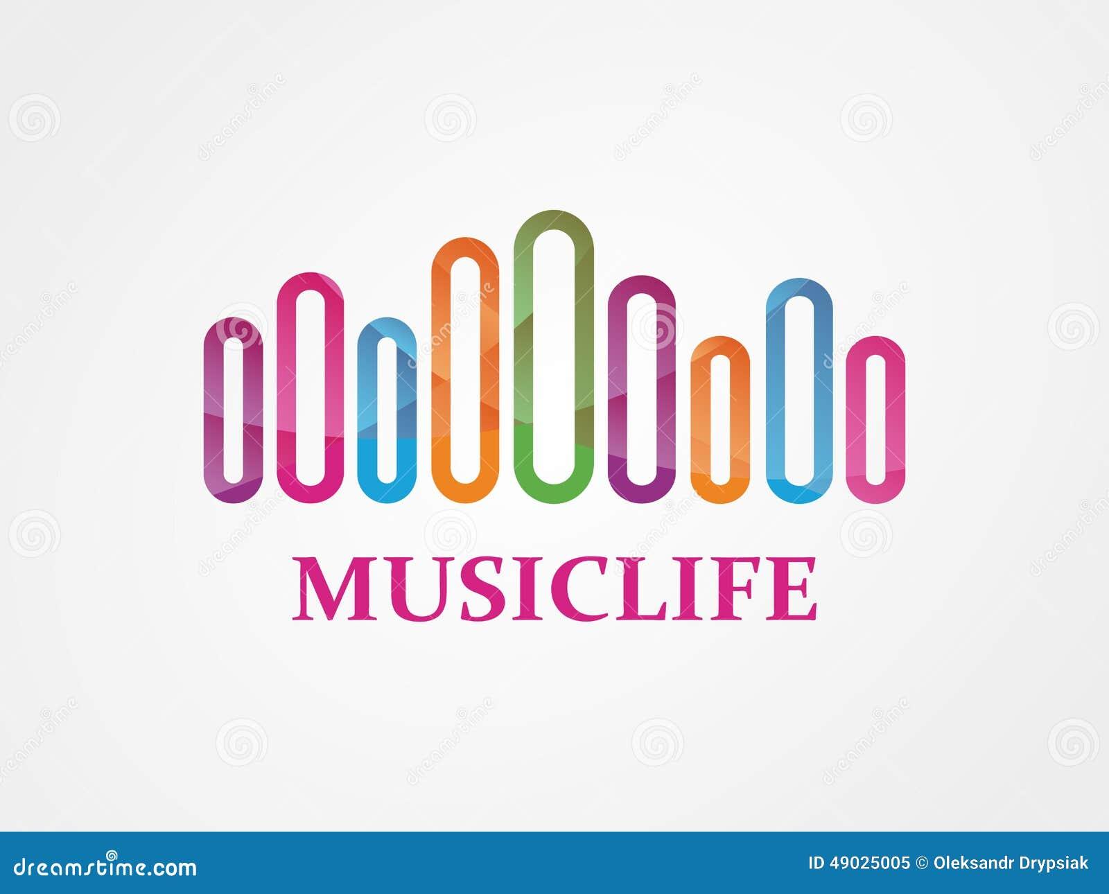 vector music logo stock vector image 49025005