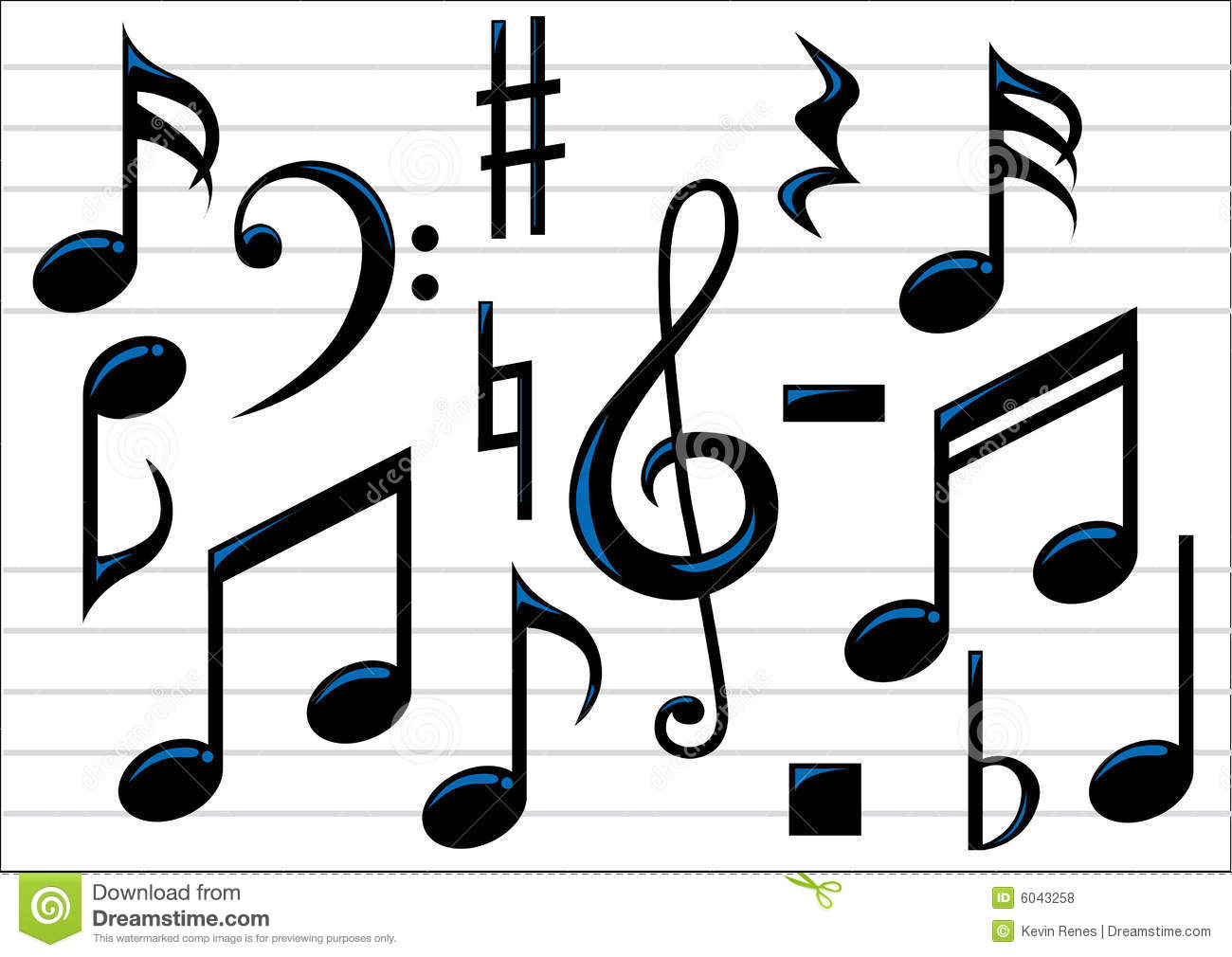 vector music notes stock vector illustration of sheetmusic 6043258 rh dreamstime com  music notes silhouette vector free download