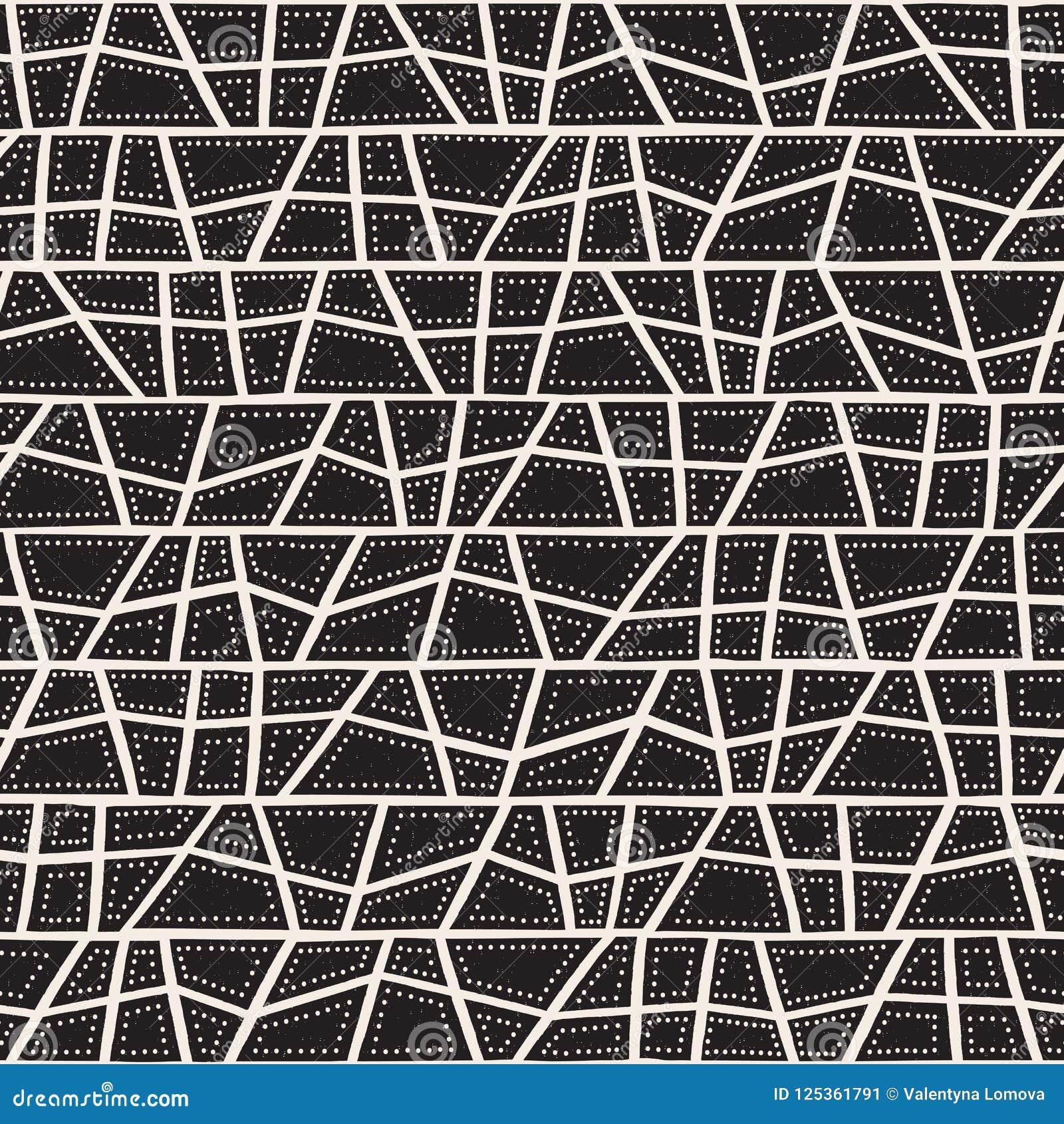 Vector naadloos inheems patroon met inbegrip van etnische Australische beweging veroorzakend met typische gestippelde elementen,