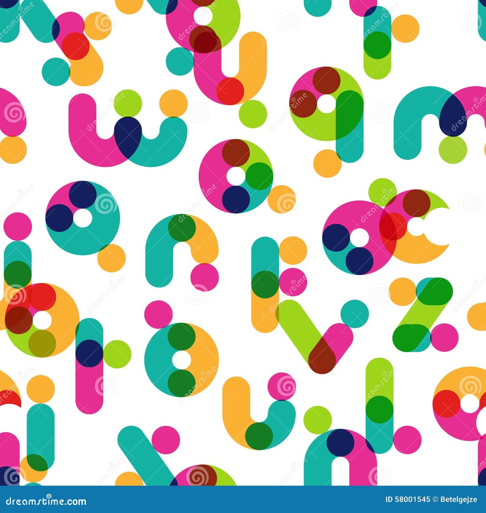 Vector naadloos patroon met decoratief Latijns alfabet