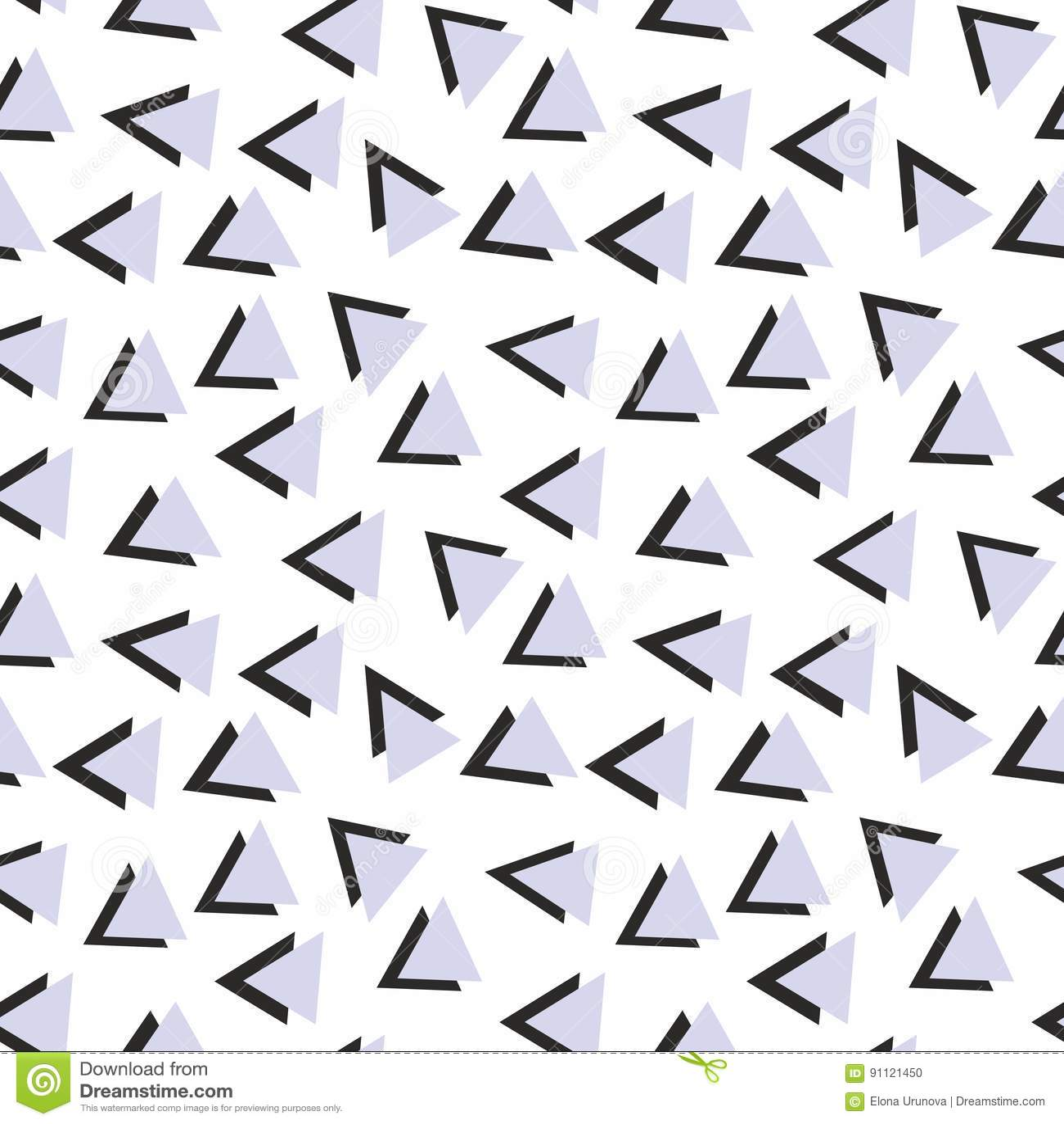 Vector naadloos patroon met driehoeken Achtergrond voor ontwerp