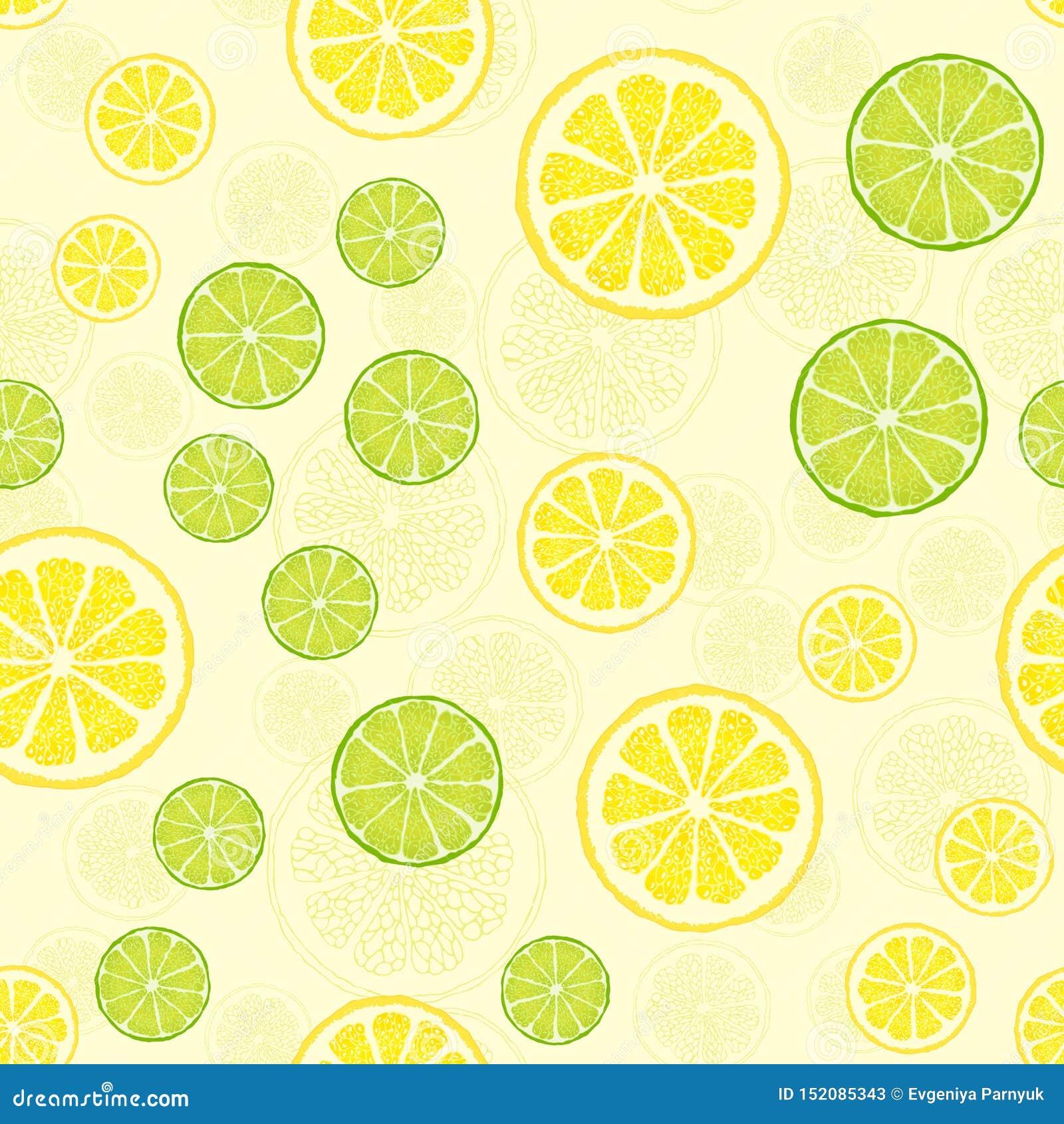 Vector naadloos patroon met fruitplakken