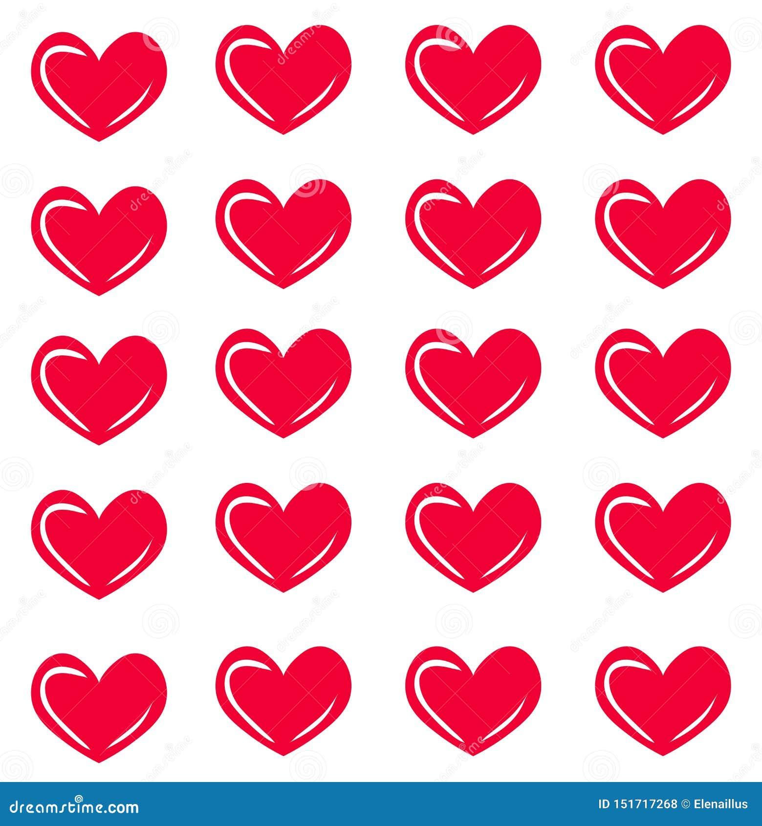 Vector naadloos patroon met harten Hartdruk De textuur van de manier
