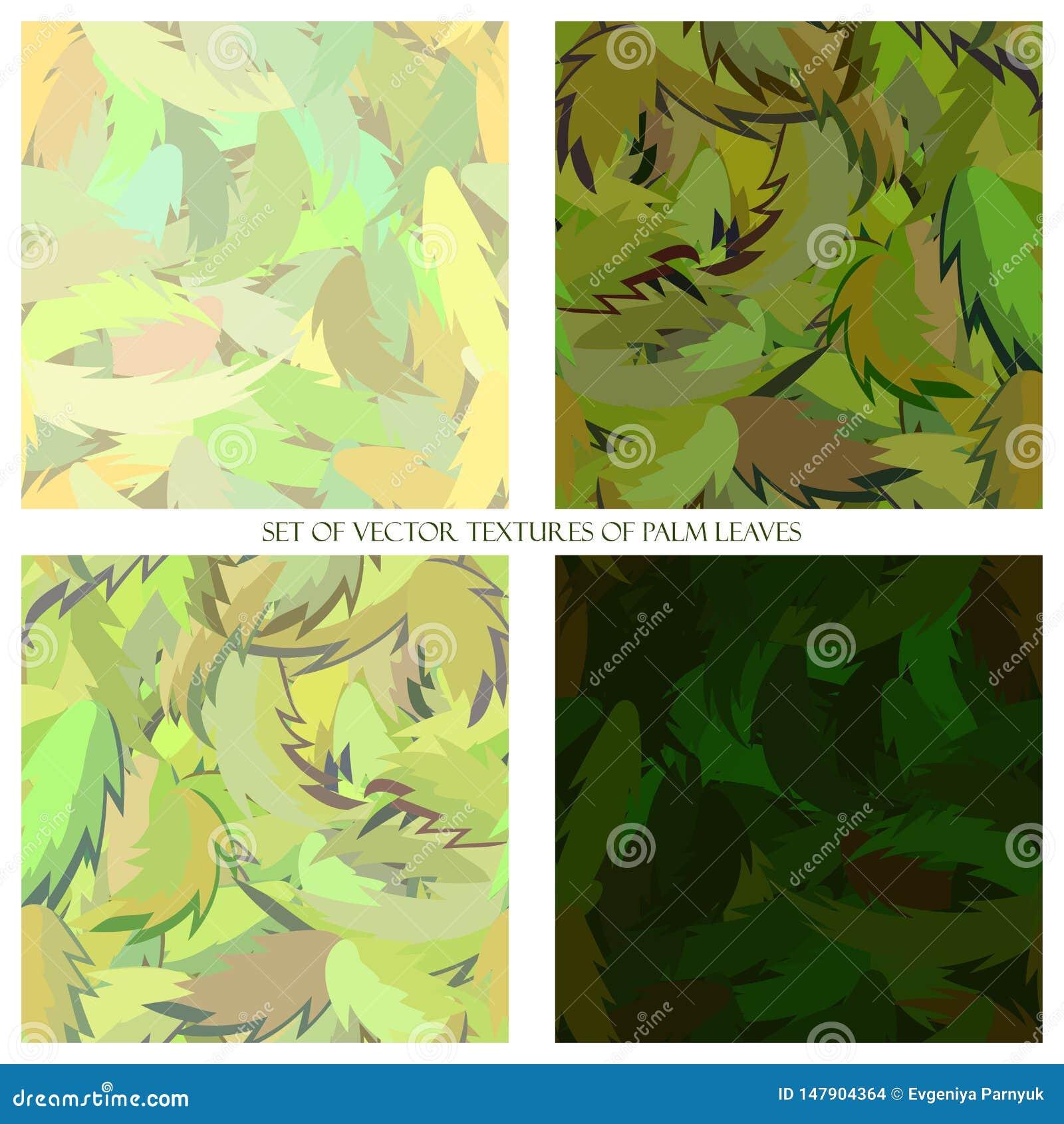 Vector naadloos patroon met palmbladen