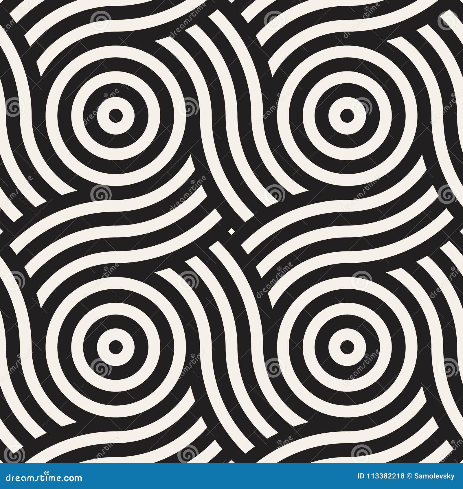 Vector naadloos patroon Moderne modieuze abstracte textuur Het herhalen van geometrische tegels