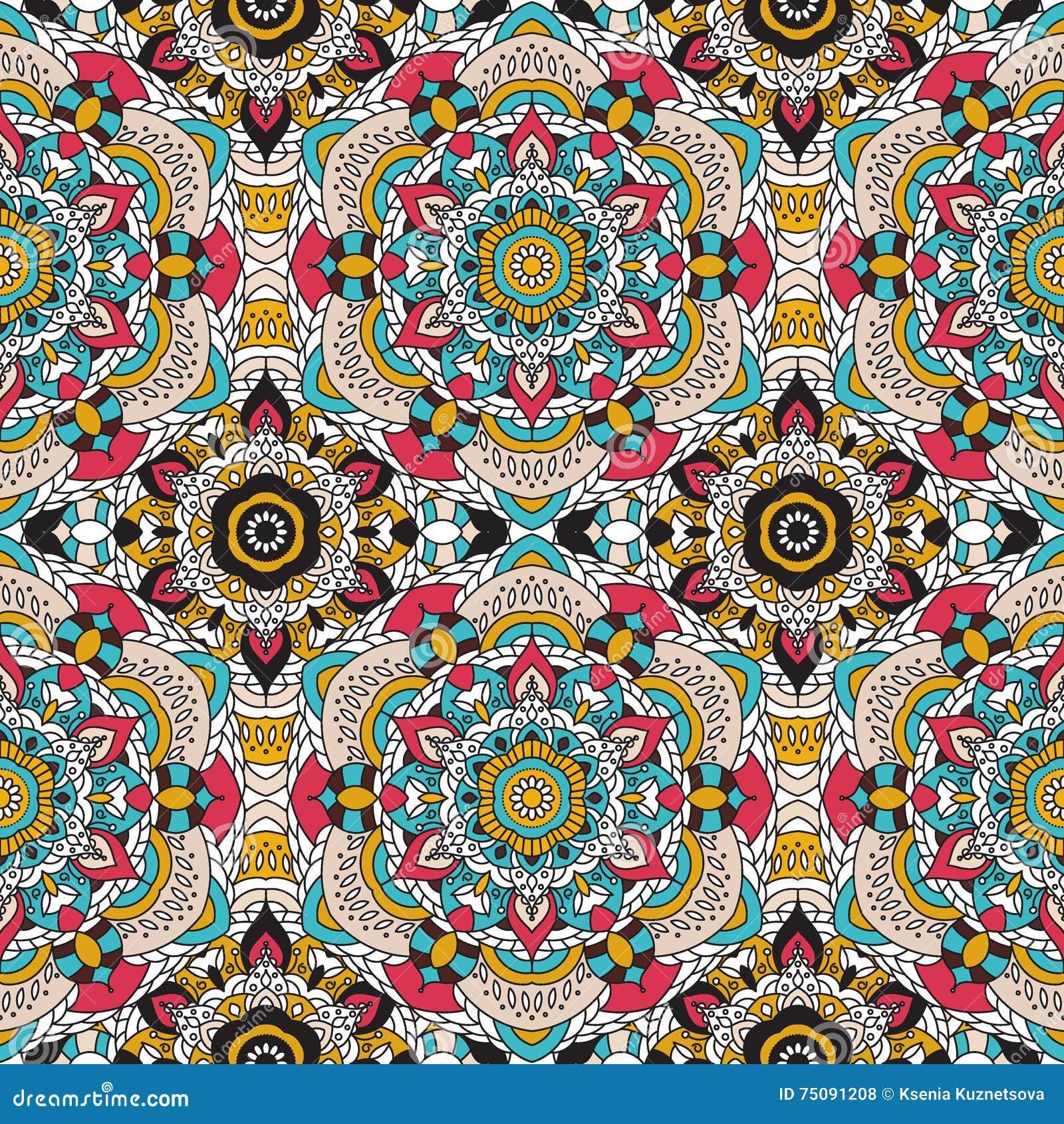 Vector naadloos patroon nationaal decoratief element voor stoffen ot ontwerp islam arabische - Oosters stof ...
