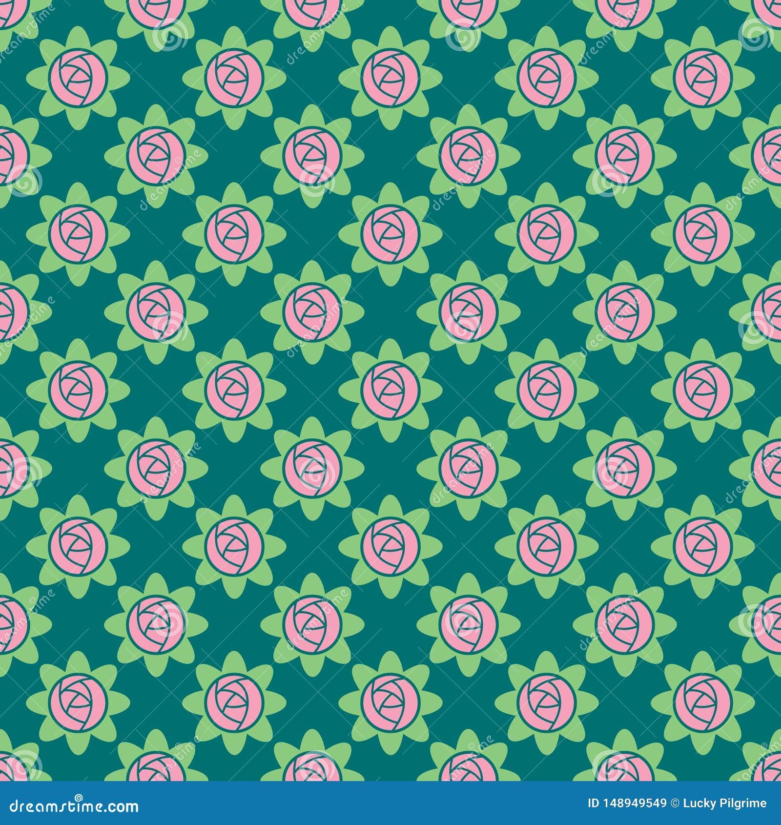 Vector naadloos patroon van rozen