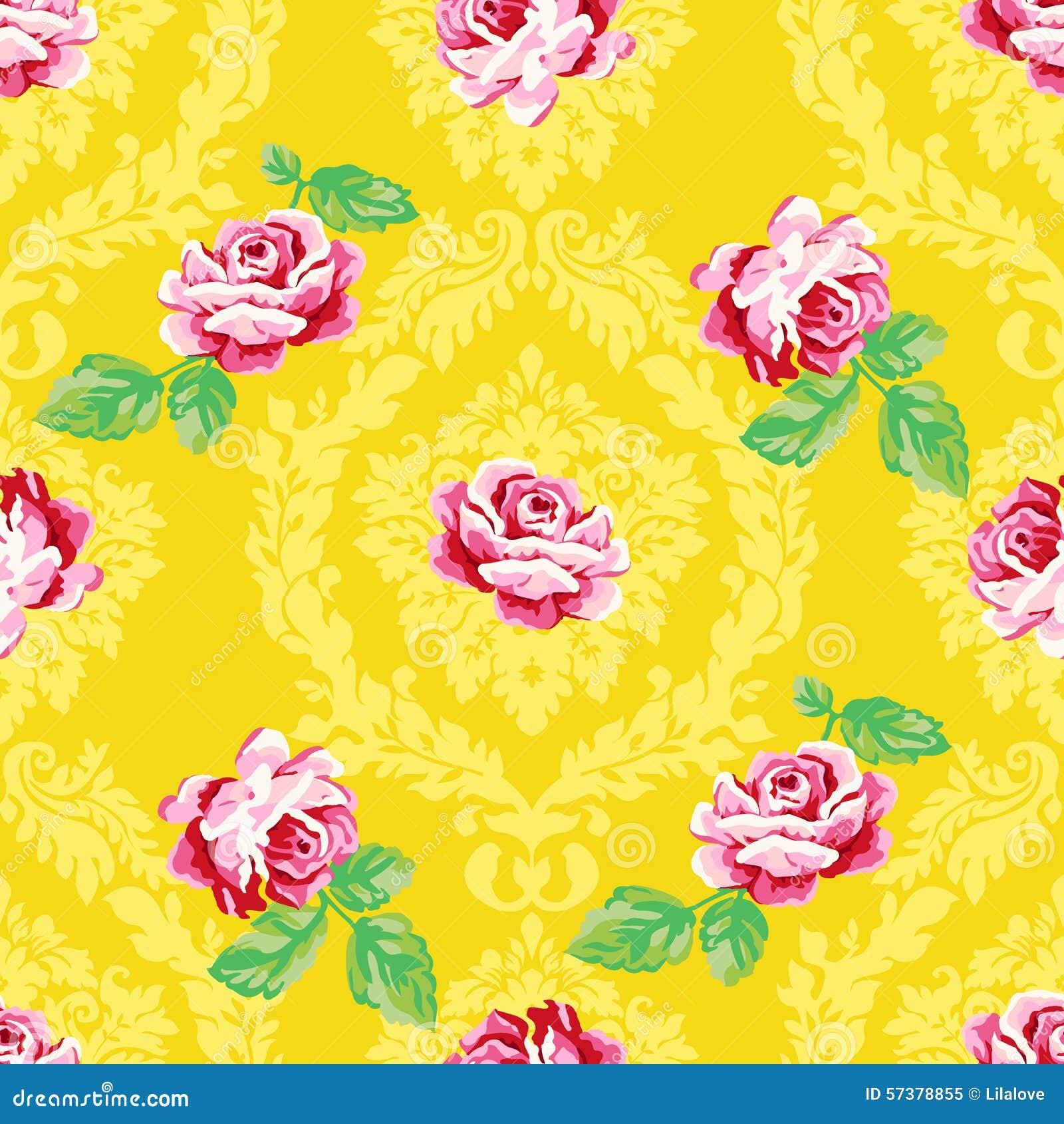 Vector Naadloos uitstekend bloemenpatroon
