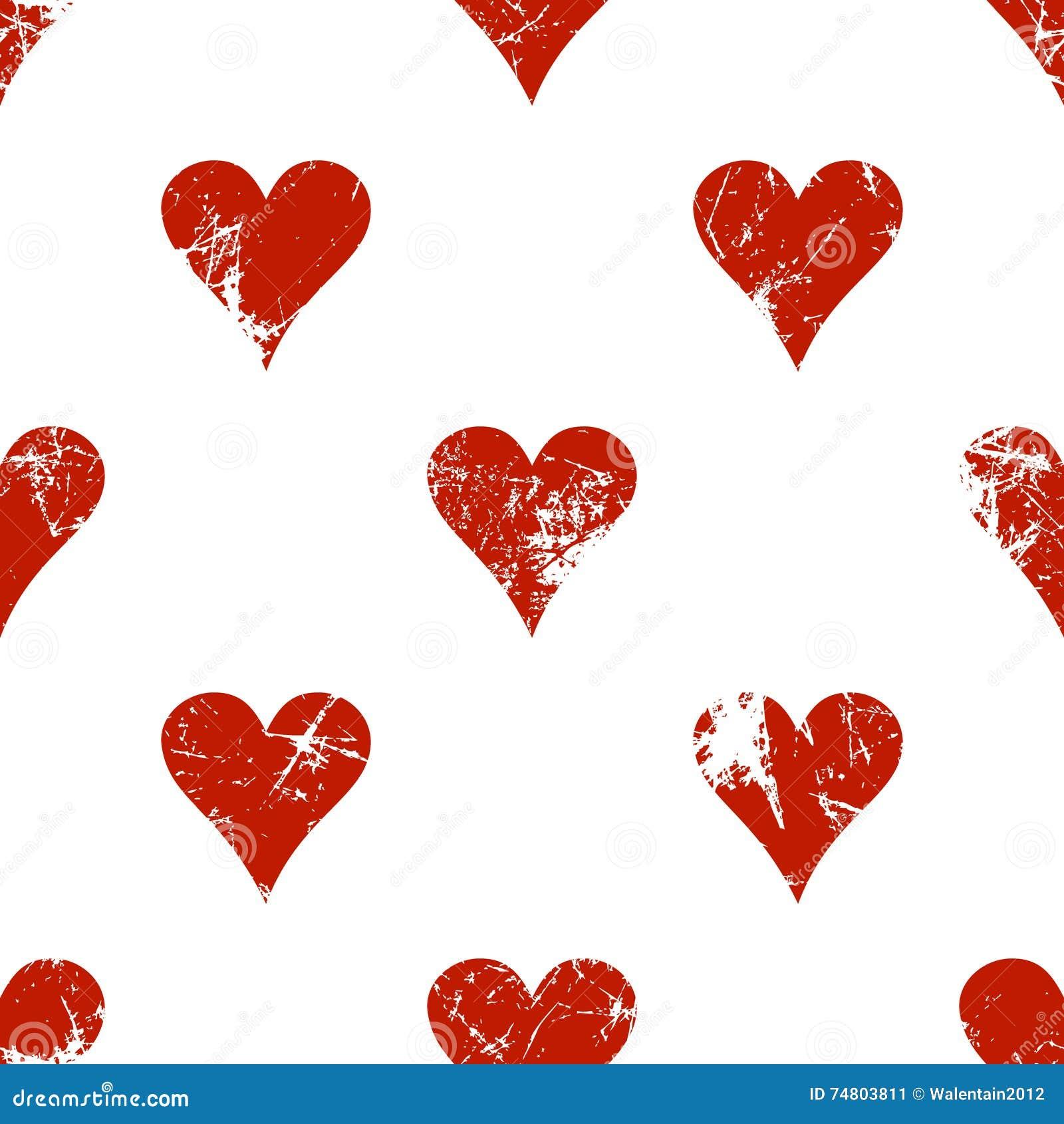 Vector naadloze patronen met pictogrammen van het spelen kaarten Creatieve geometrische rode en witte grungeachtergronden