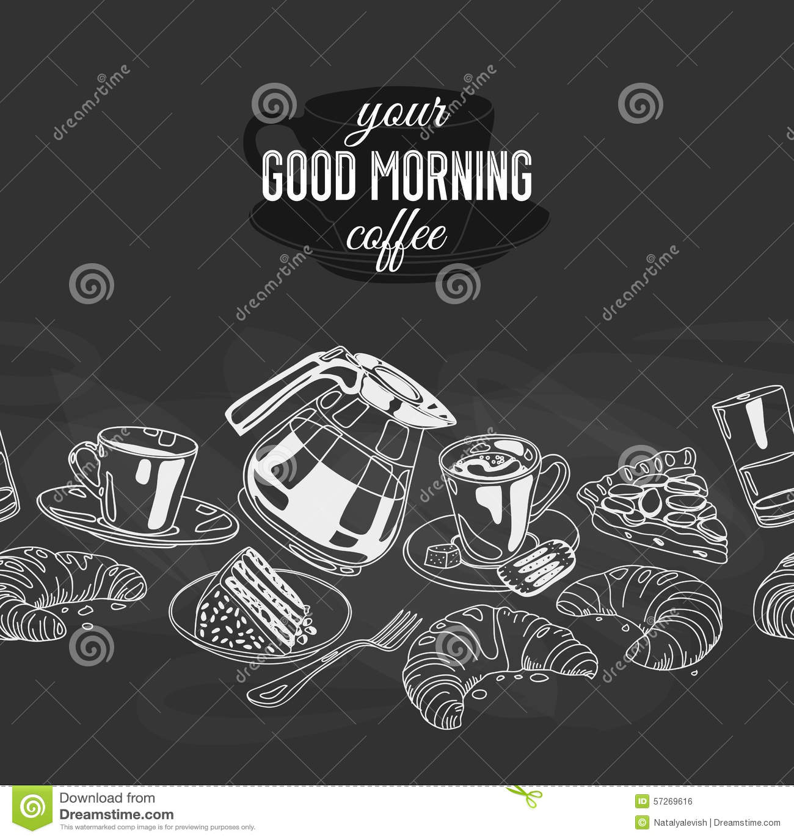 Vector naadloze pensionair met koffie en snoepjes