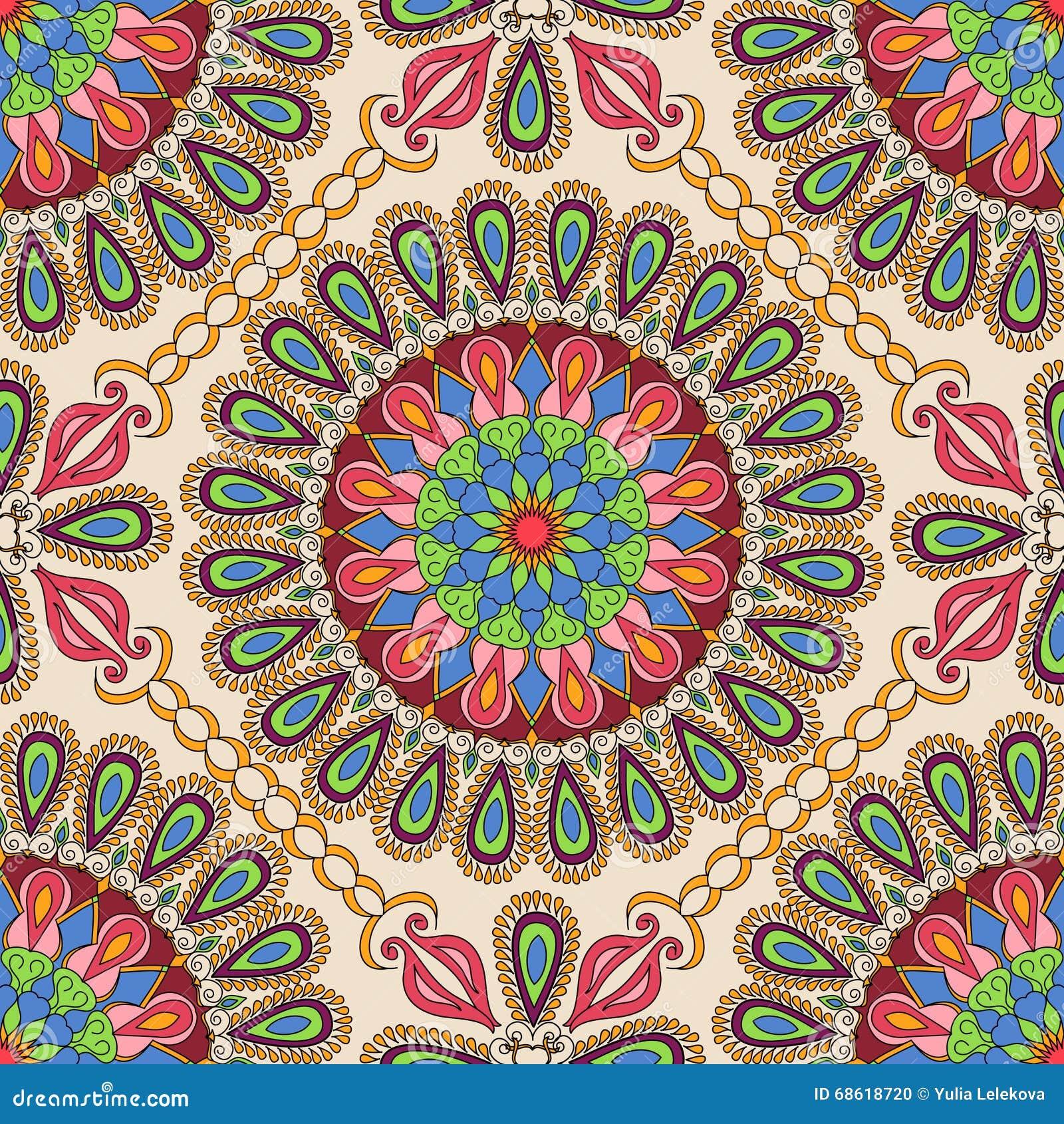 Vector naadloze textuur Mooi mandalapatroon voor ontwerp en manier met decoratieve elementen in etnische Indische stijl