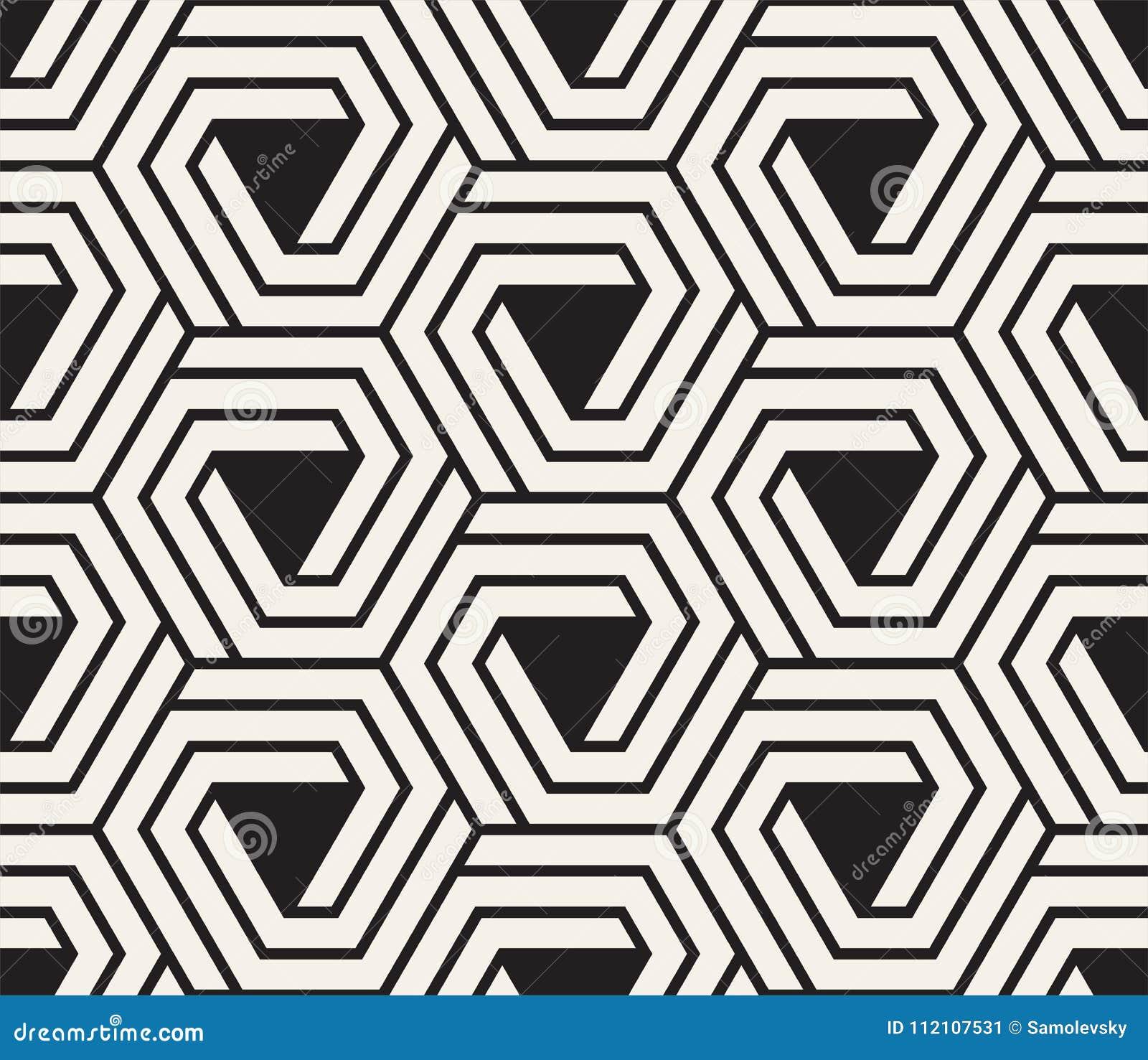 Vector nahtloses Muster Moderne stilvolle abstrakte Beschaffenheit Wiederholen von geometrischen Fliesen