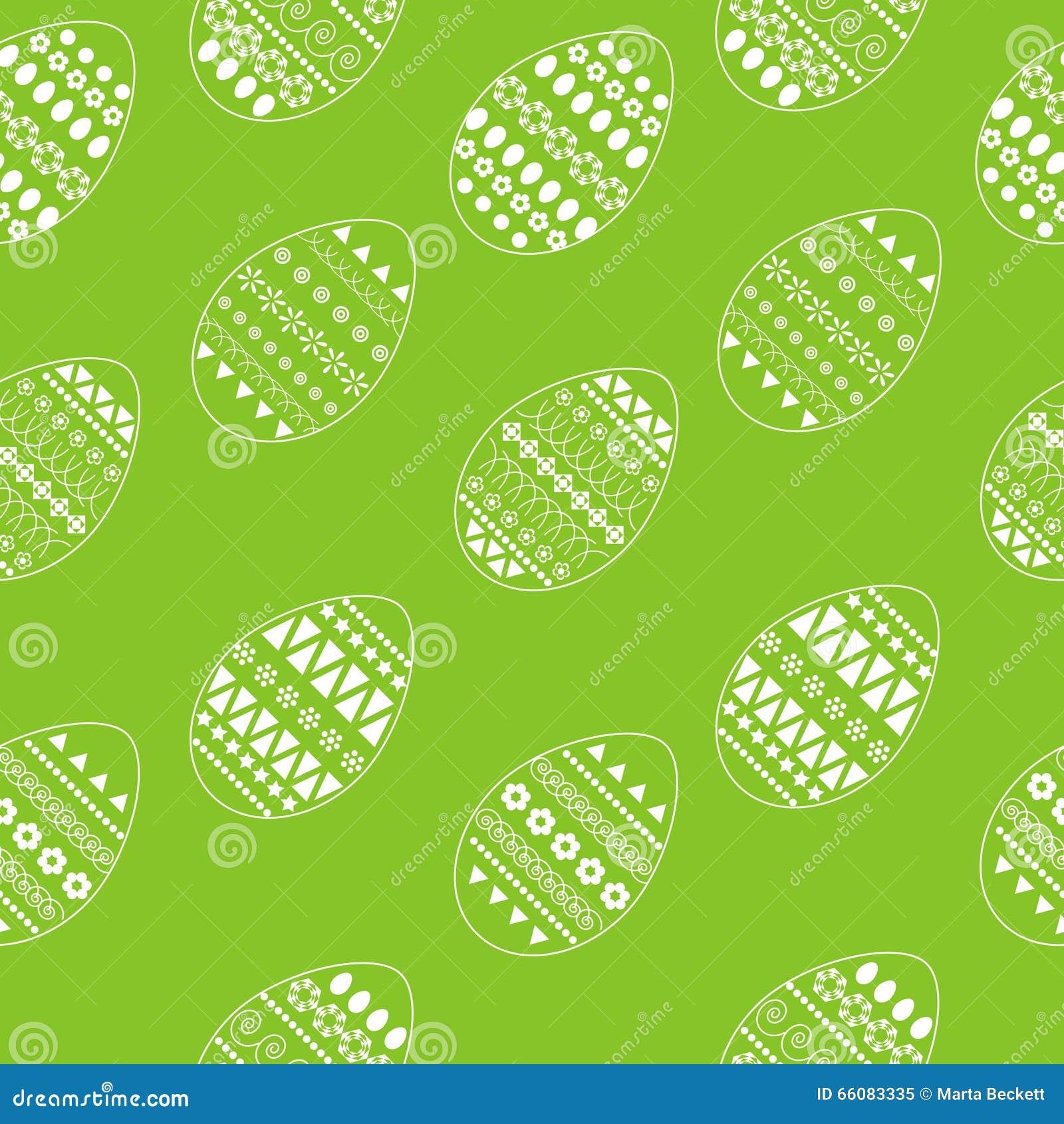 Vector nahtloses Muster von aufwändigen weißen Ostereiern Neues und Frühlingsdesign für Grußkarten, Gewebe, Broschüre, Gewebe, Au