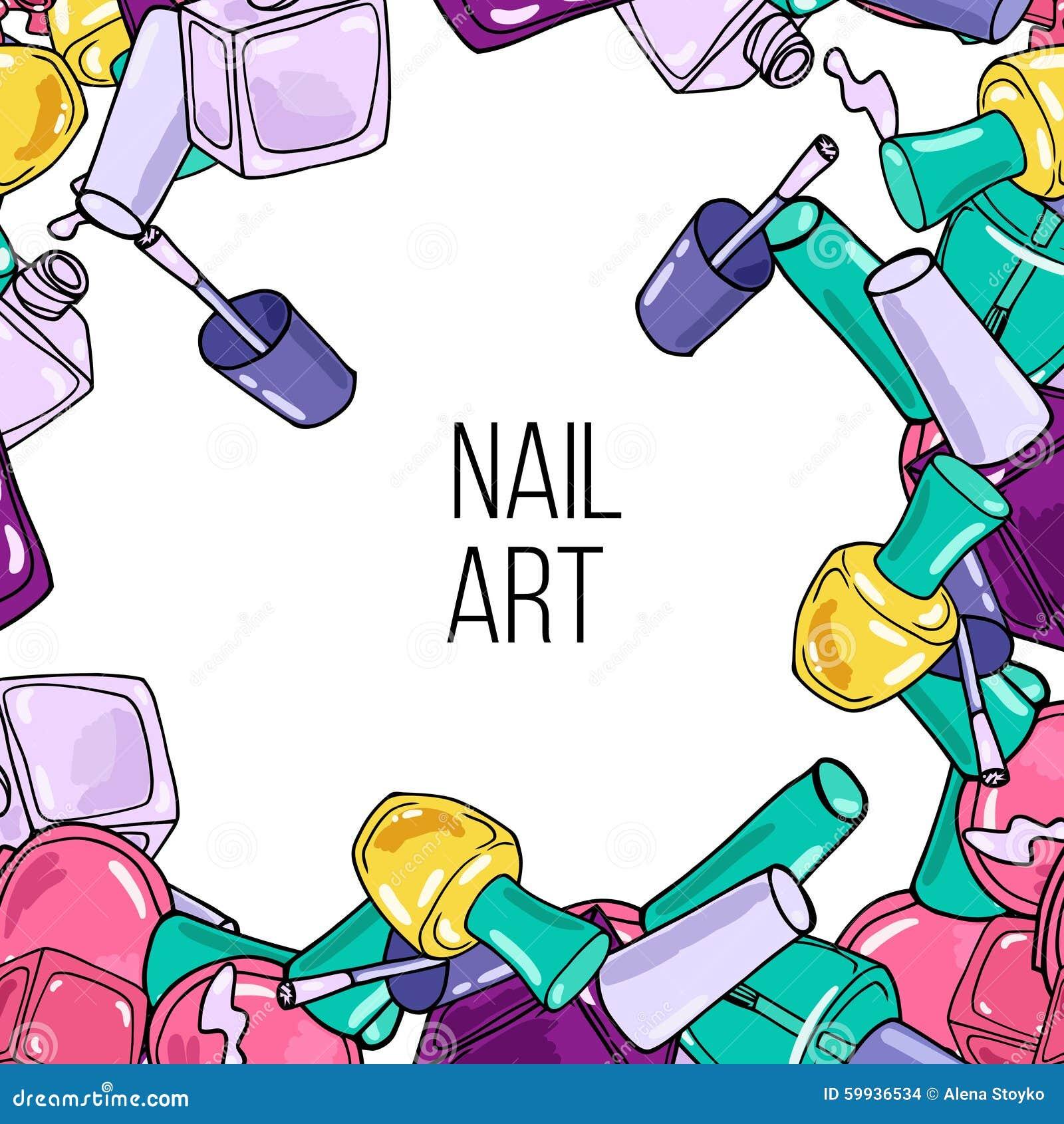Nail Art Vector: Vector Nail Lacquer Bottles Stock Vector