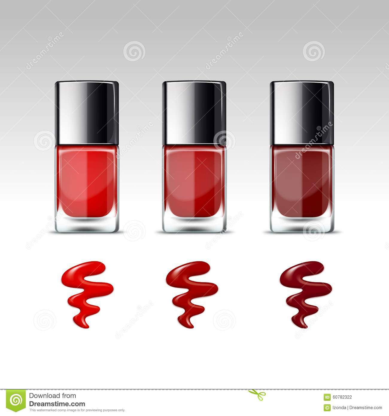 Nail Polish Package: Vector Nail Polish Packaging Bottle For Manicure Stock