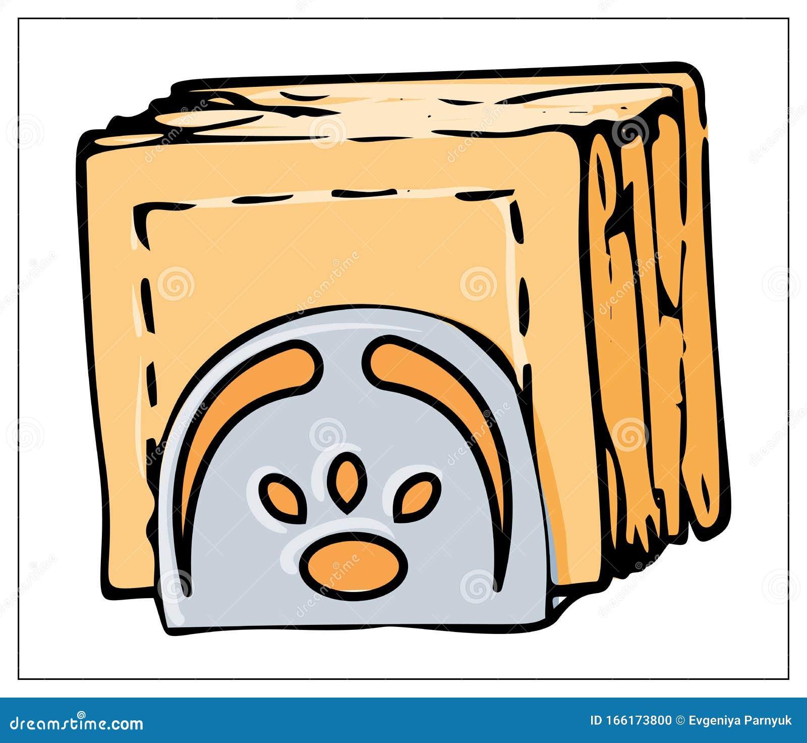 Vector Napkin Holder Isolated On A White Background Stock Vector Illustration Of Element Design 166173800