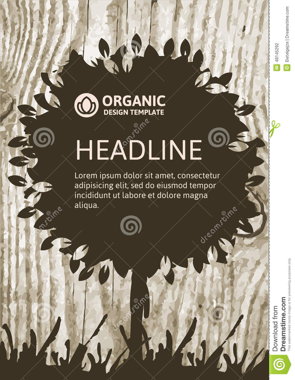 Vector Nature Organic Template For Brochure, Flyer ...
