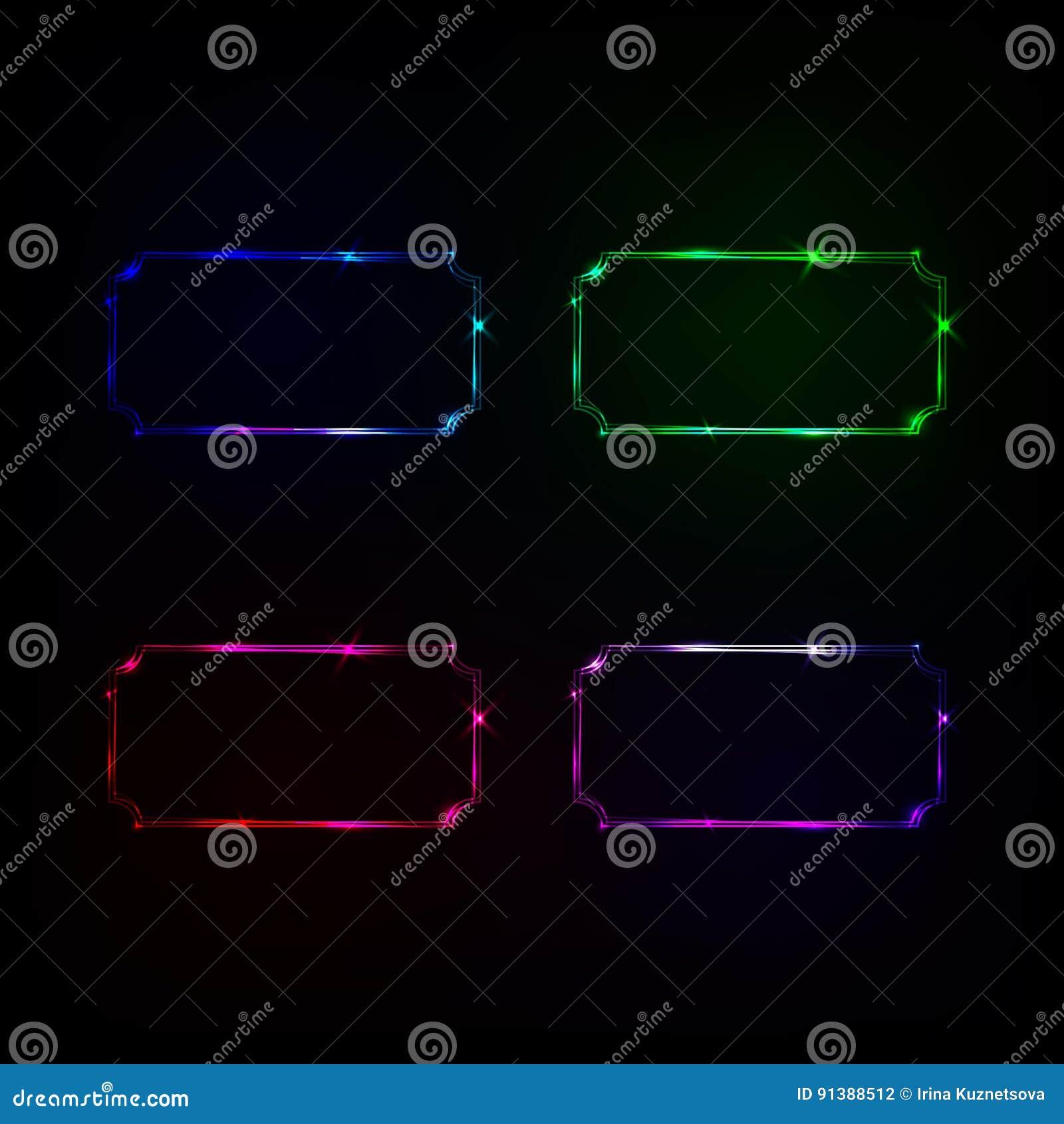 Vector neon frame stock vector  Illustration of design