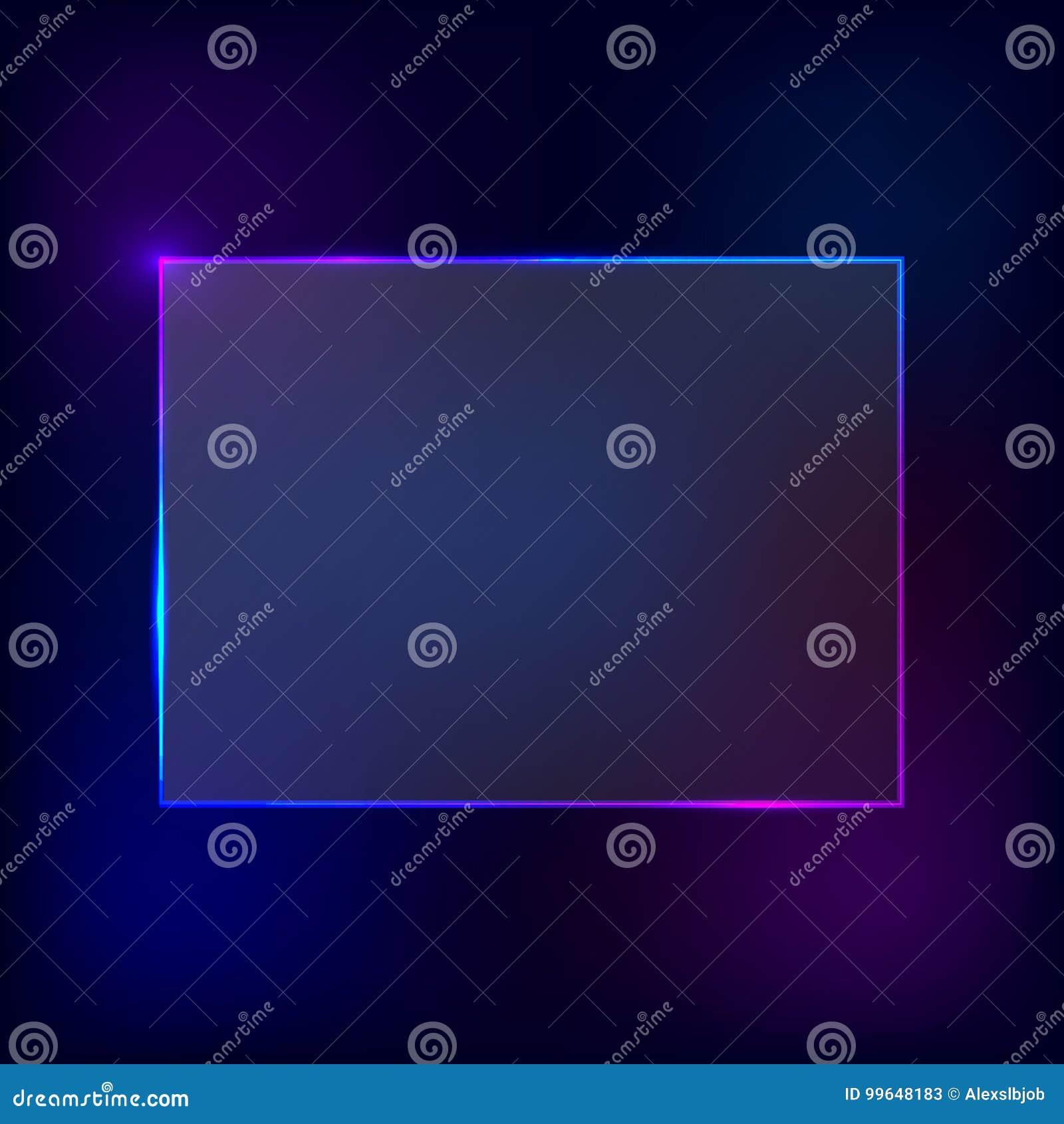 Vector neon frame.