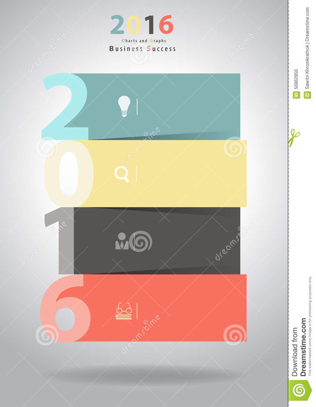Vector 2016 new year layout template design