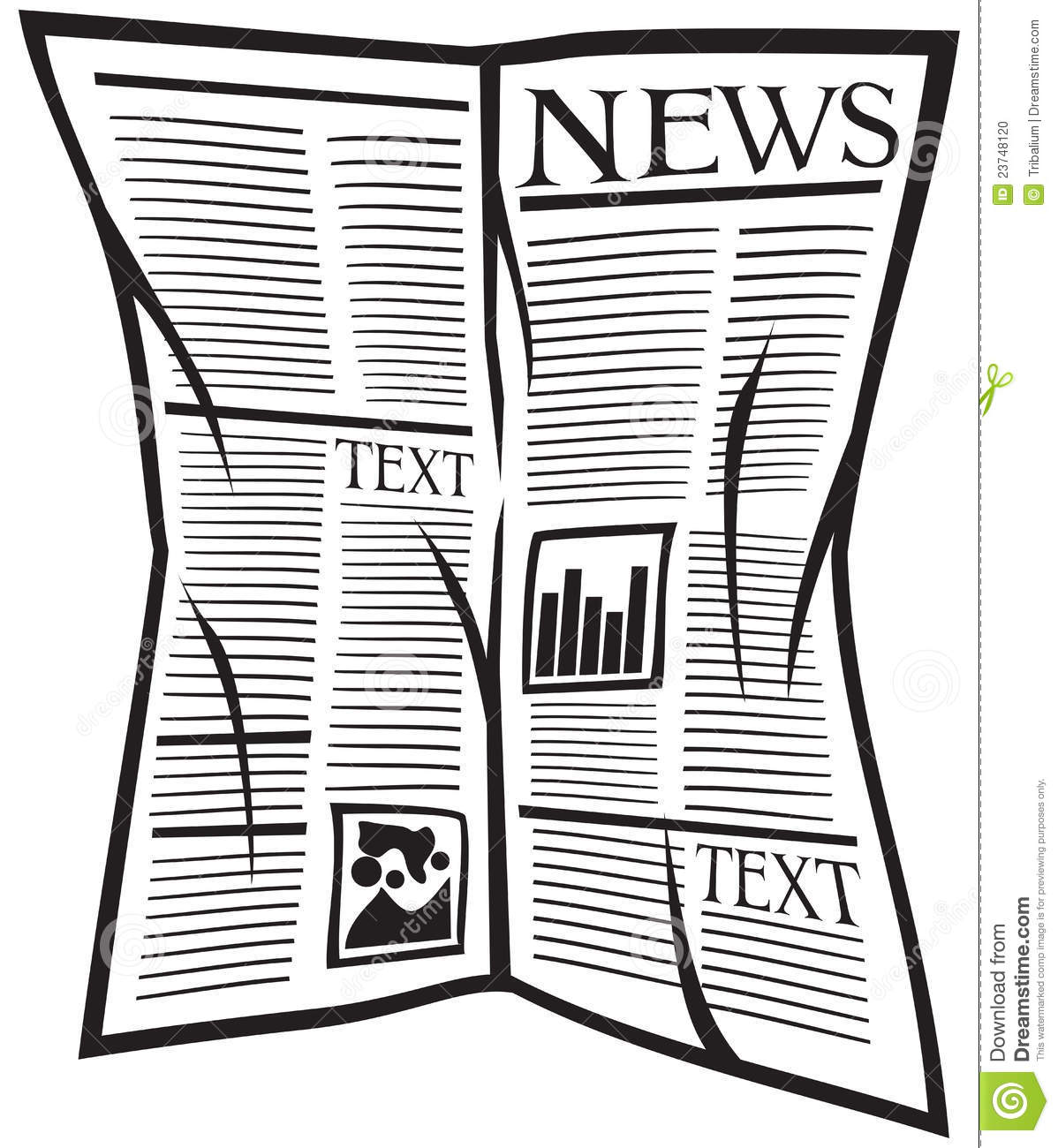 Download Vector Newspaper Icon Stock Illustration Of Data