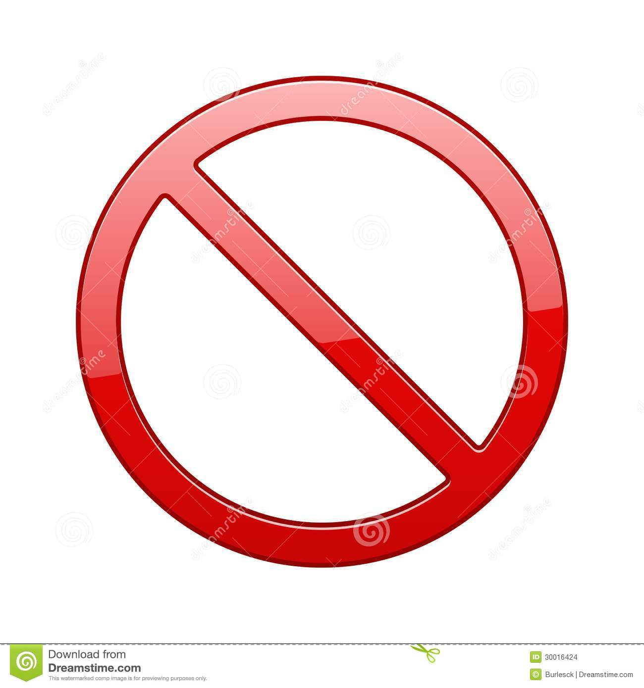 Vector No Sign Stock Images - Image: 30016424