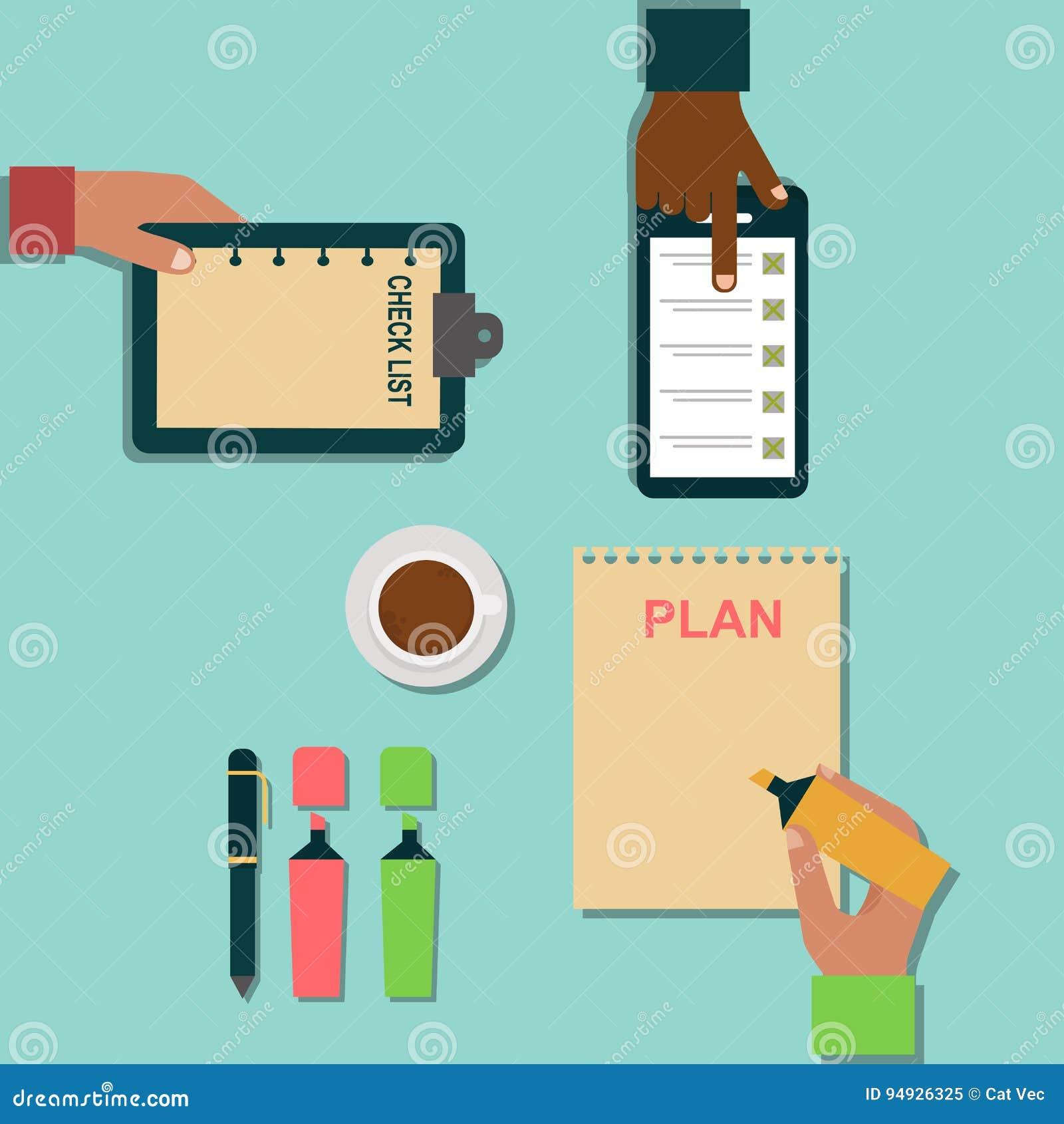 Vector notebook agenda business note plan work reminder for Plan organizer
