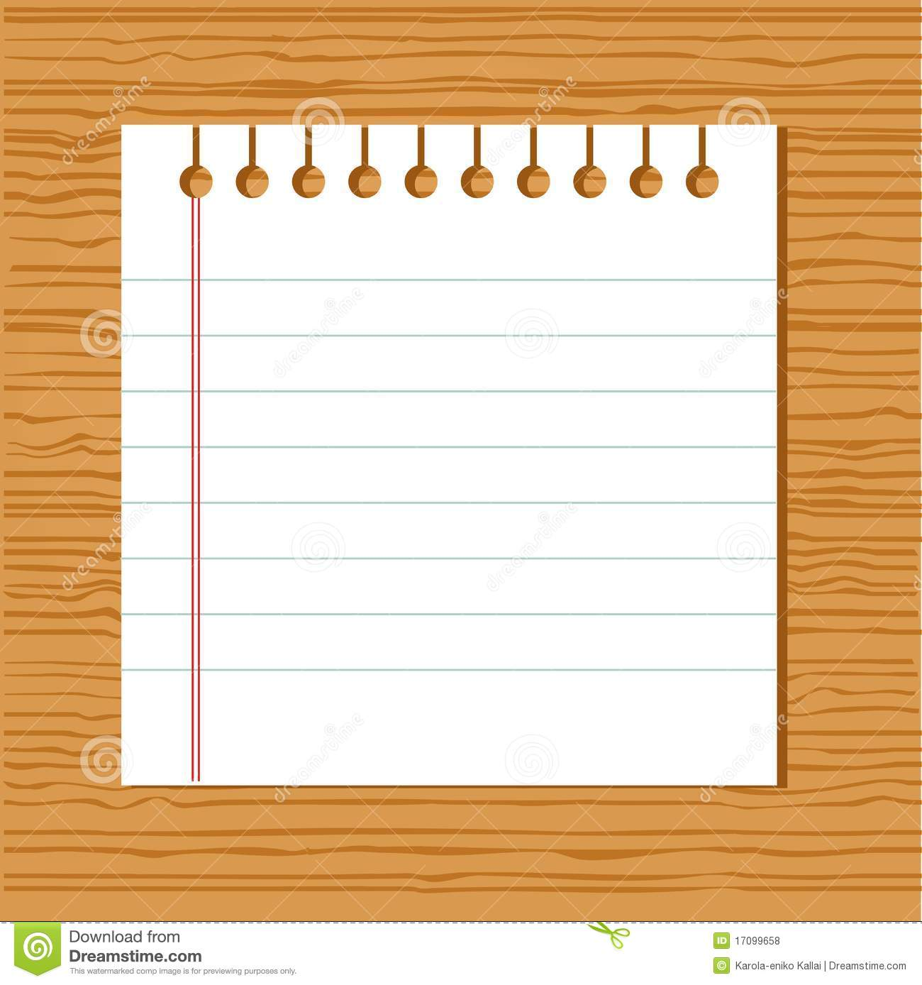 Vector Notebook Paper Royalty Free Stock Photos - Image ...