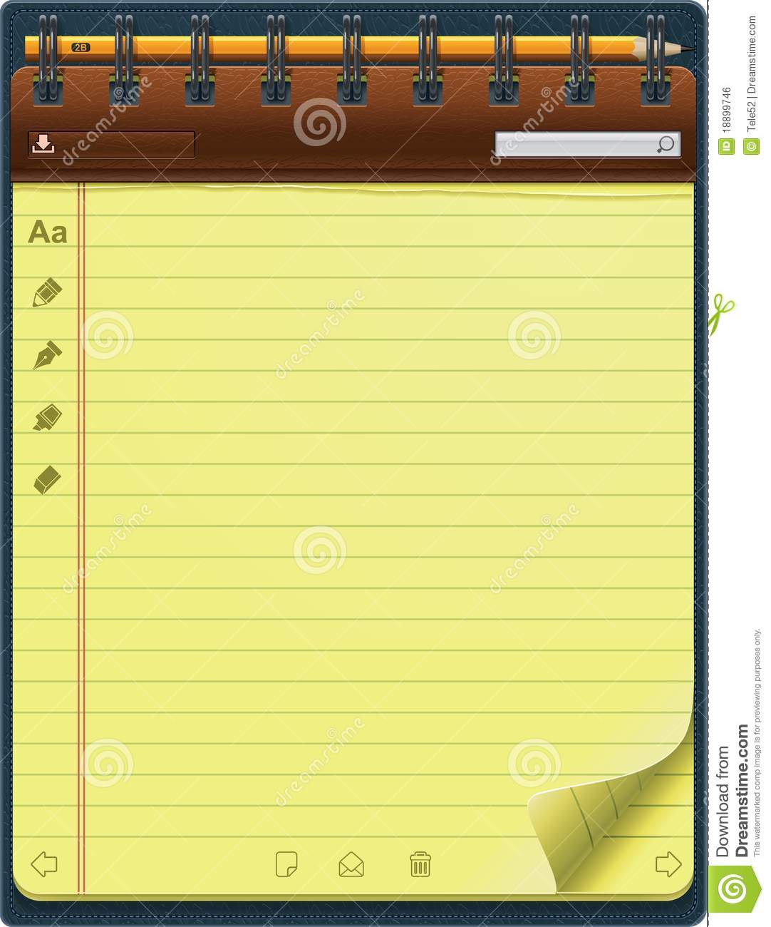 vector notepad template  vertical  royalty free stock