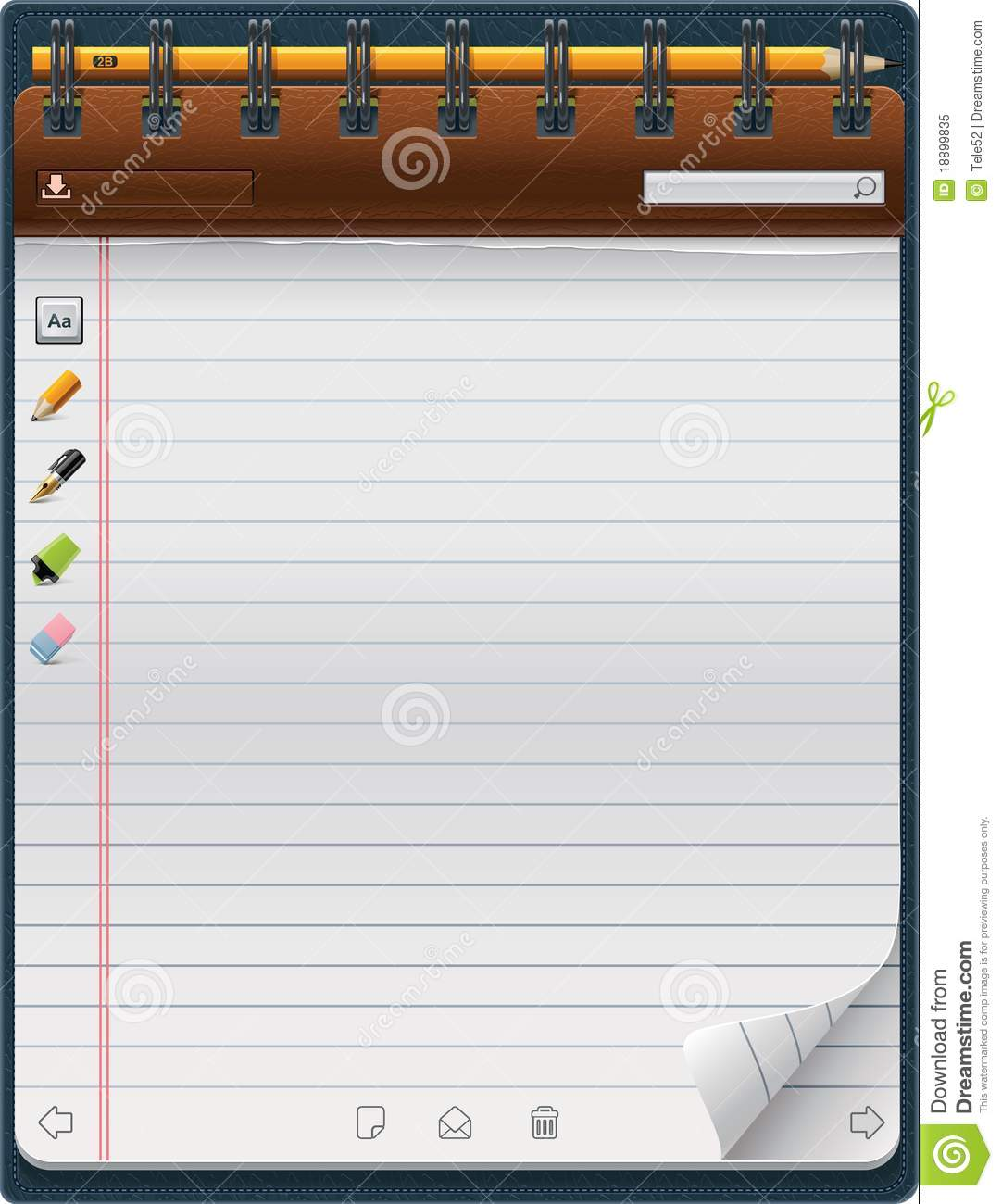 microsoft word notepad template – Microsoft Word Notebook Paper Template