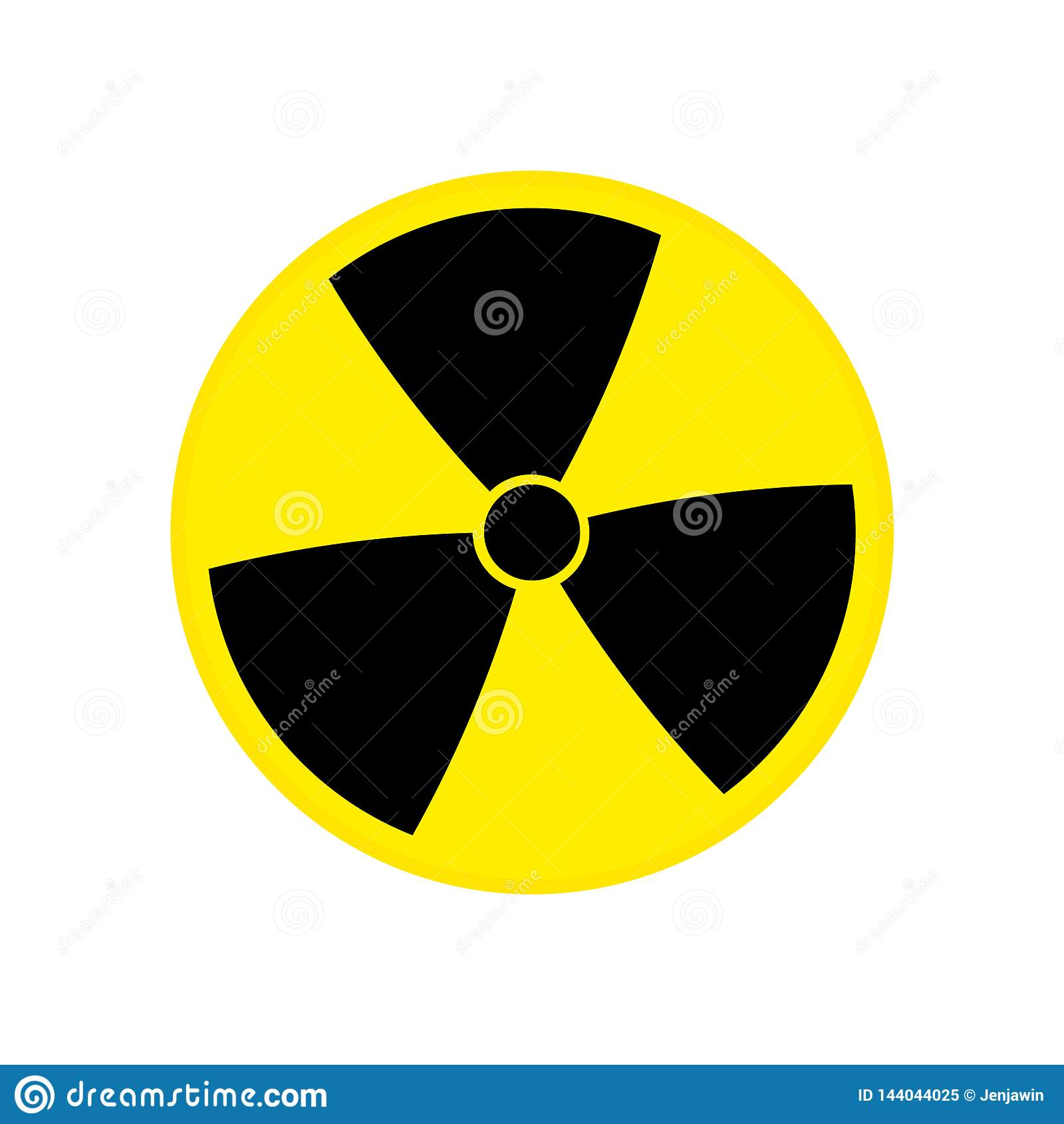 Vector nuclear tóxico eps10 de la muestra Símbolo de la contaminación radiactiva Símbolo de la contaminación radiactiva Ilustraci