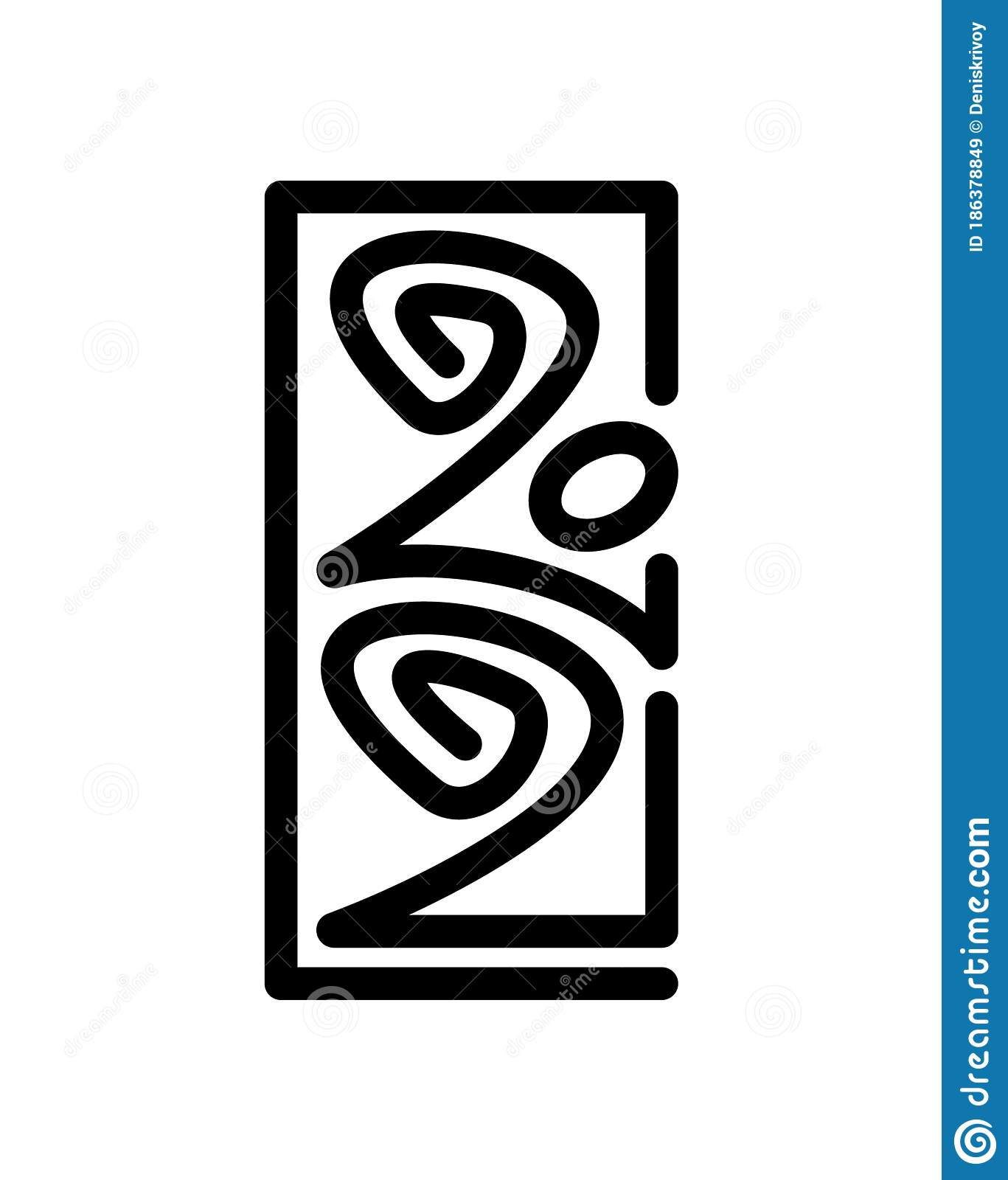 Vector Number Of 2021. Poster Design Template. Happy New ...