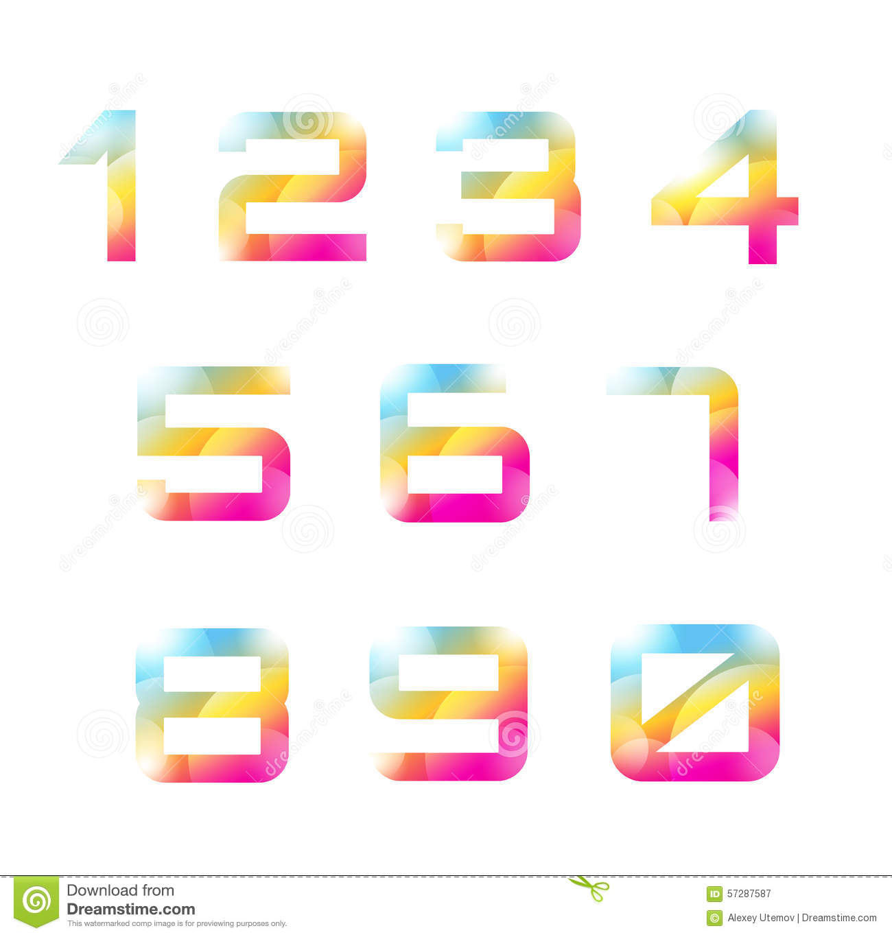 number templates 1 10